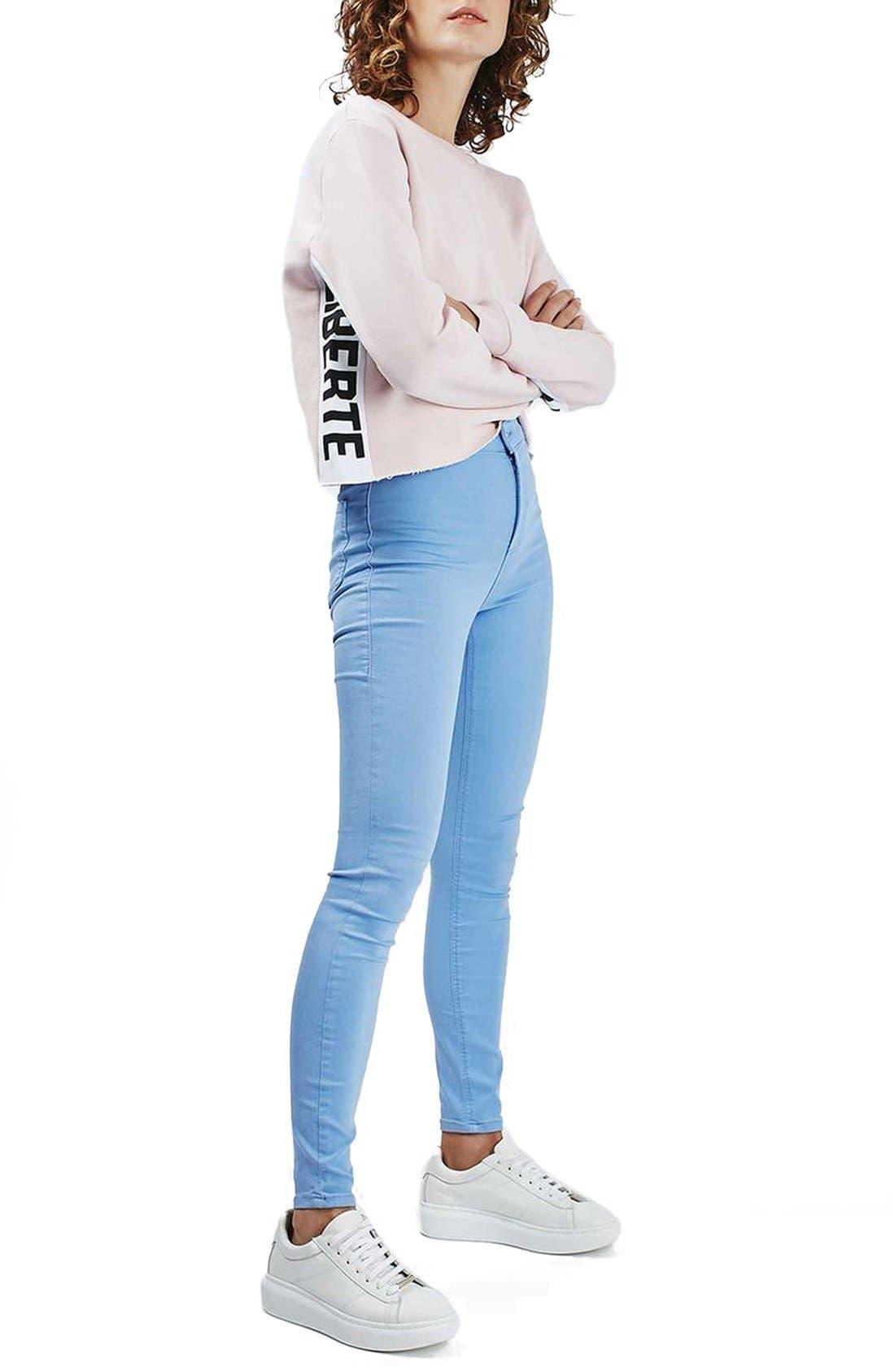 Alternate Image 2  - Topshop 'Femme Liberté' Crop Sweatshirt