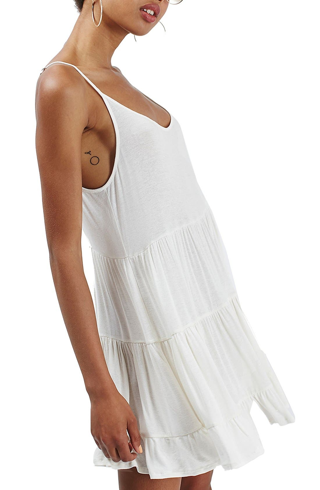 Alternate Image 3  - Topshop Tiered Open Back Sundress