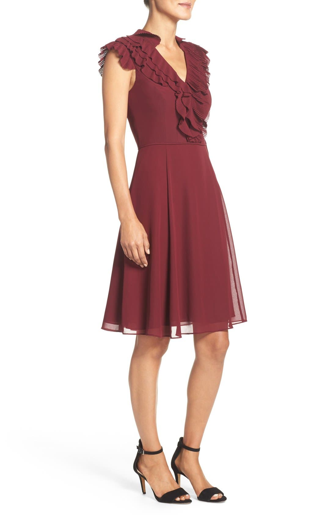 Alternate Image 3  - Adrianna Papell Ruffled A-Line Dress