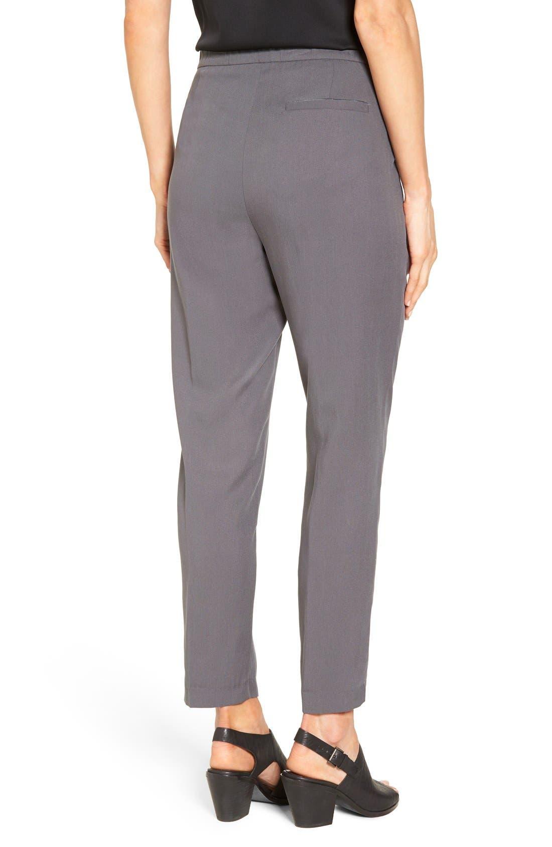 Alternate Image 2  - Eileen Fisher Woven Slim Leg Ankle Pants (Regular & Petite)