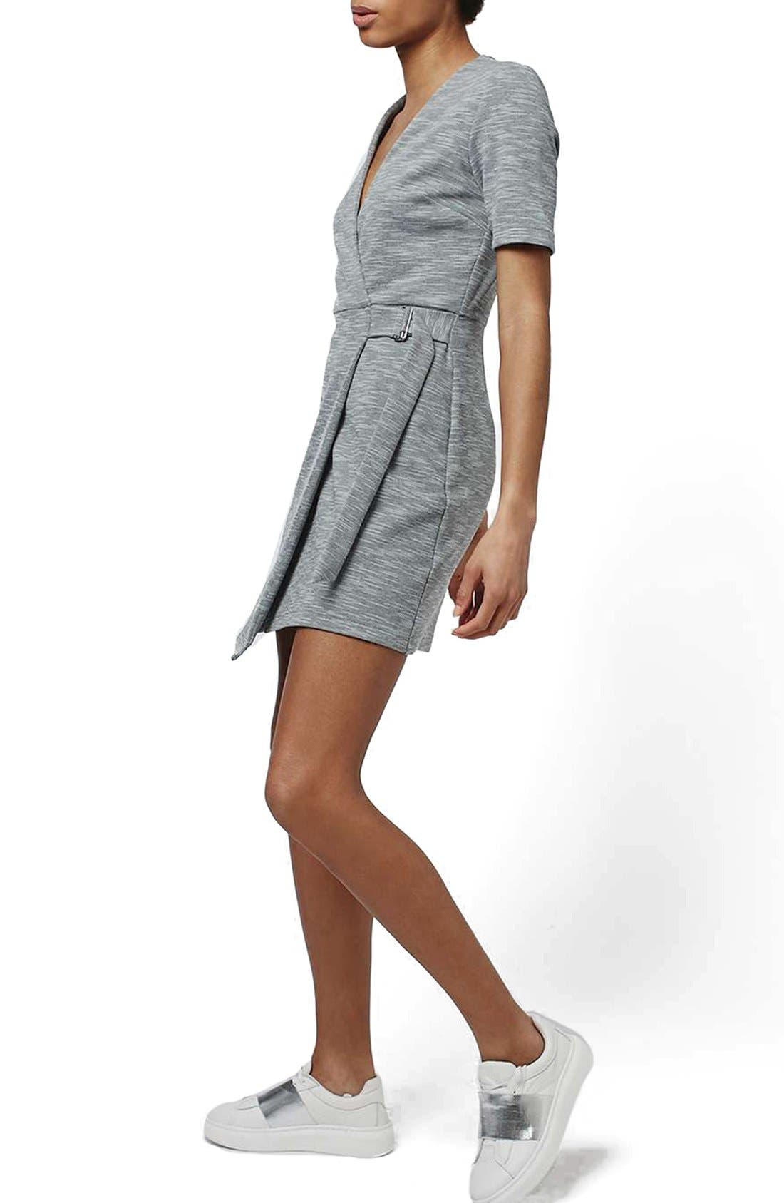 Alternate Image 1 Selected - Topshop Belted Wrap Minidress