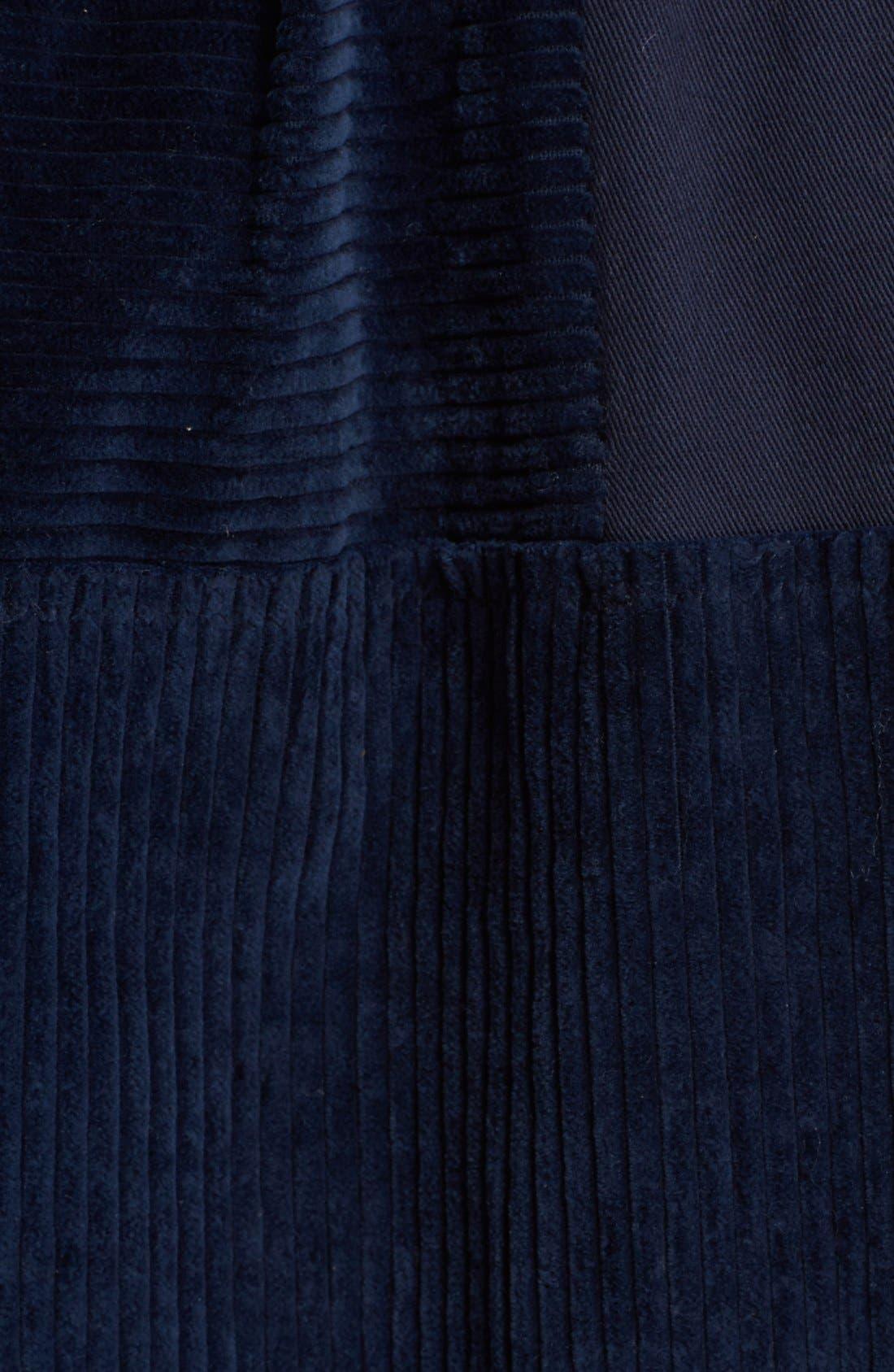 Alternate Image 3  - steventai Corduroy & Denim Patchwork Midi Skirt