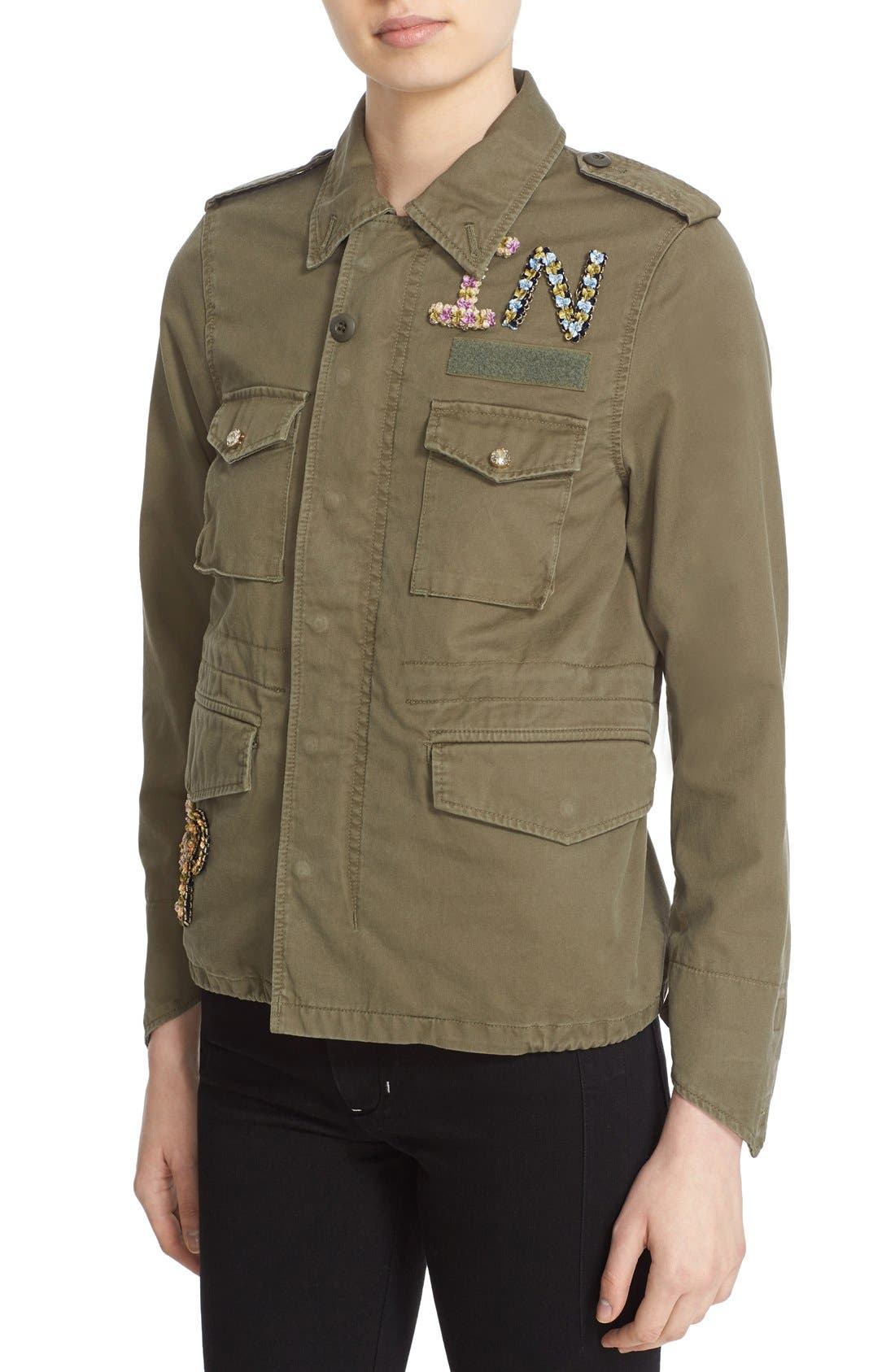 Alternate Image 6  - Tu es mon TRÉSOR 'The End' Embellished Military Jacket