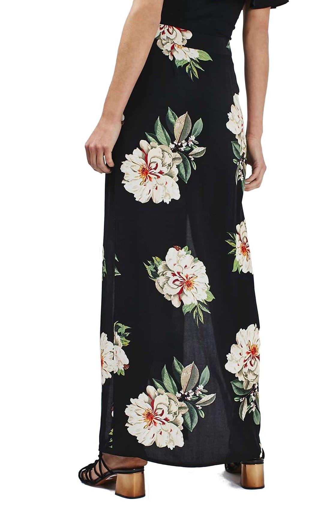 Alternate Image 3  - Topshop Floral Print Maxi Skirt