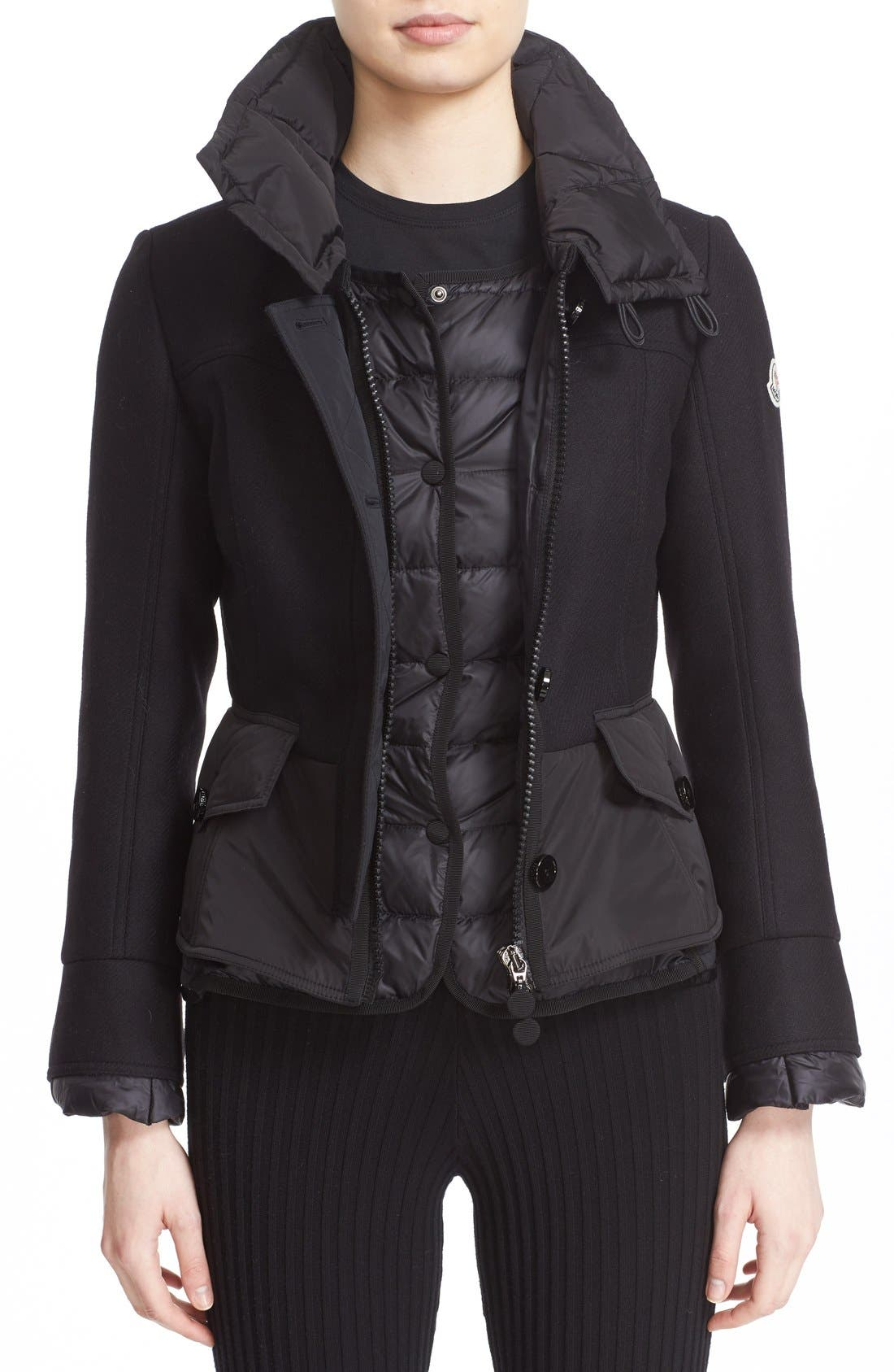 Alternate Image 1 Selected - Moncler 'Yvone' Peplum Down Jacket