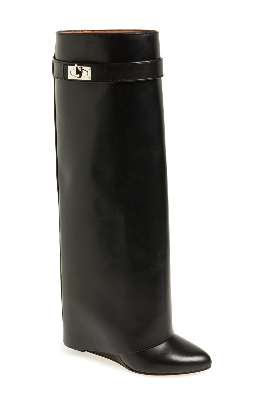 GIVENCHY Shark-Tooth Pant-Leg Knee Boot