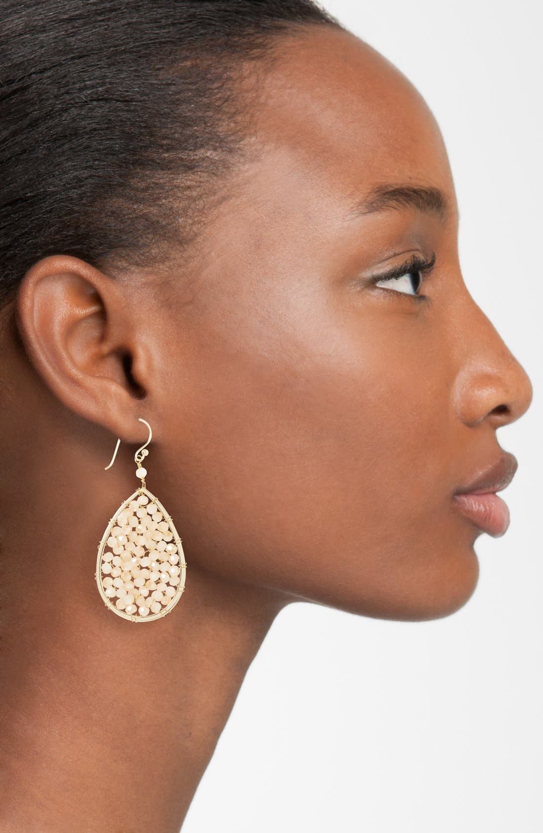 Alternate Image 2  - Panacea Crystal Teardrop Earrings