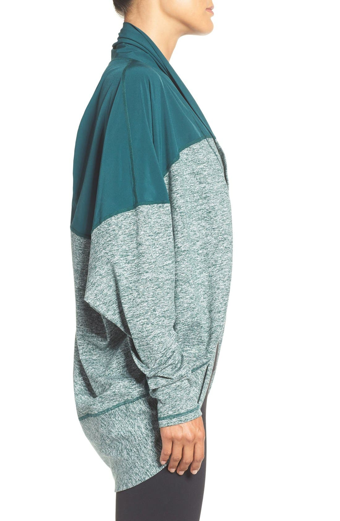 Alternate Image 3  - Zella Reversible Colorblock Cocoon Cardigan
