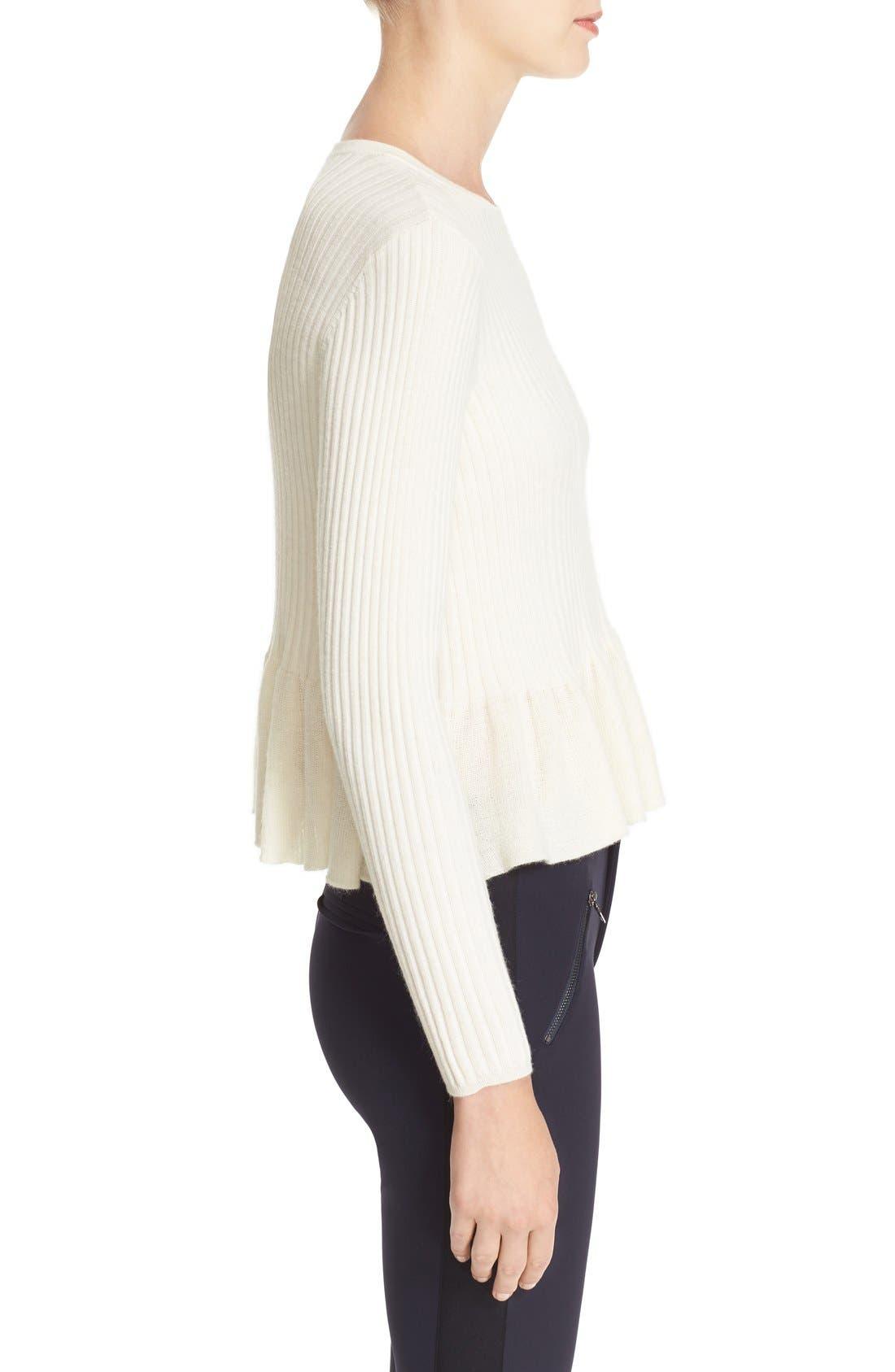 Alternate Image 3  - Rebecca Taylor Rib Knit Peplum Pullover