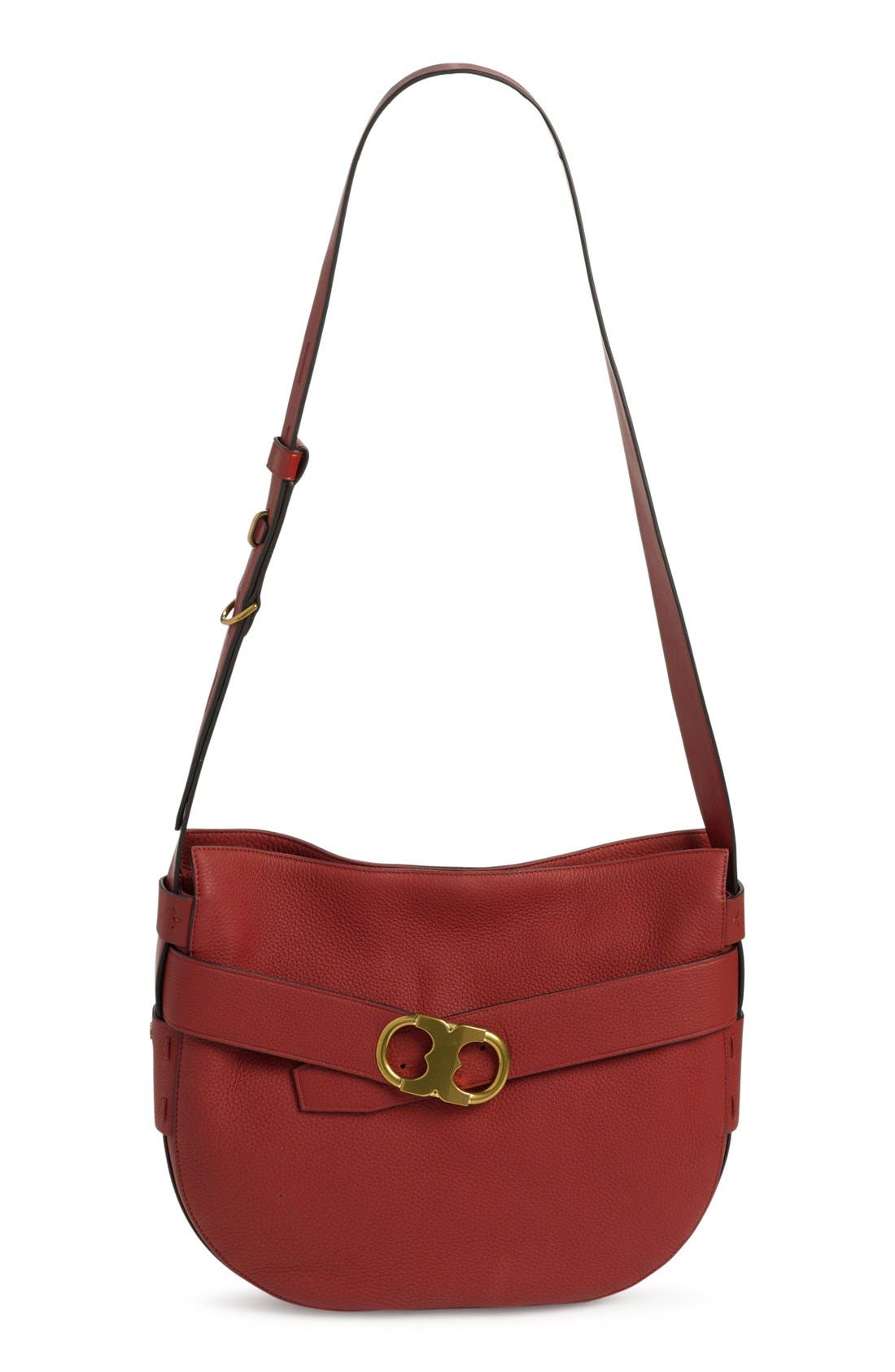 TORY BURCH 'Gemini' Belted Leather Hobo