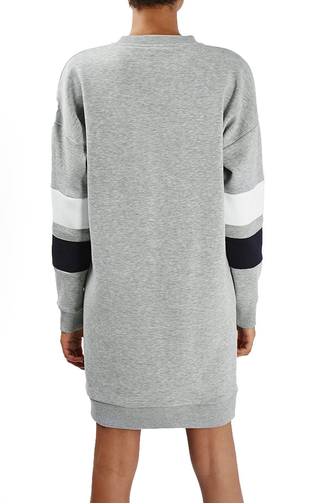 Alternate Image 4  - Topshop Colorblock Sweatshirt Dress