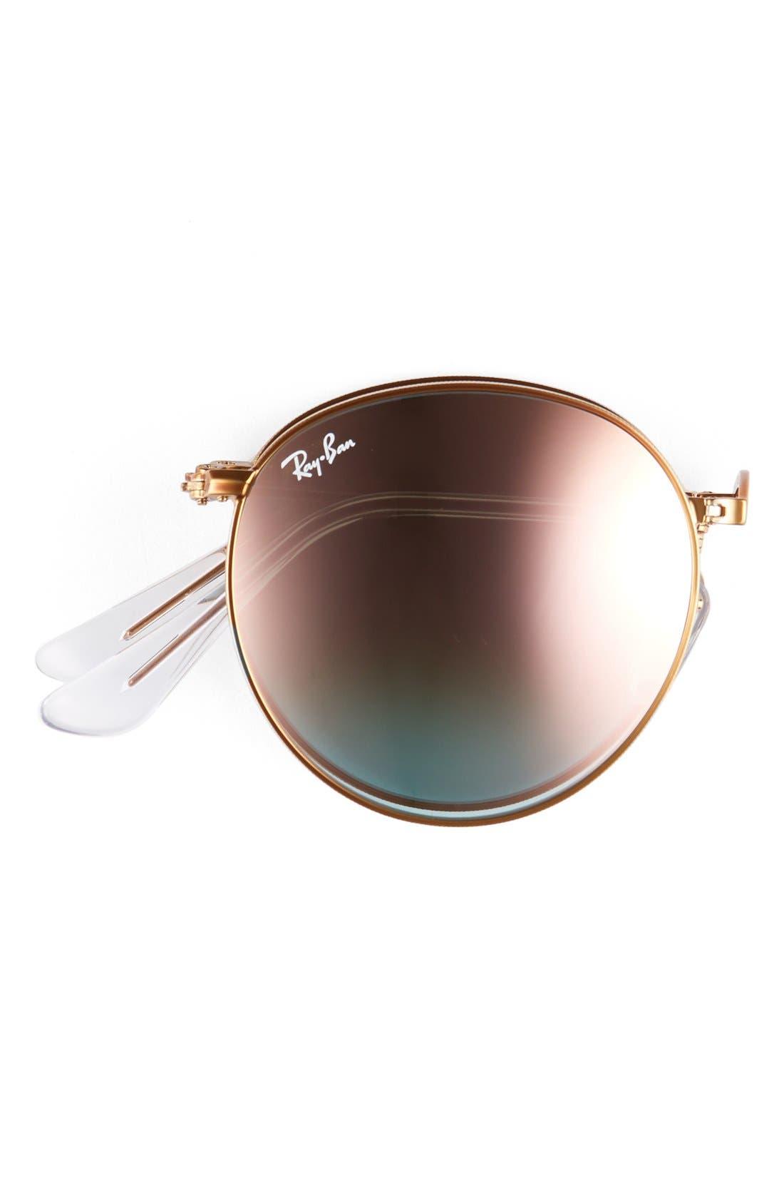Alternate Image 3  - Ray-Ban Icons 53mm Folding Round Sunglasses