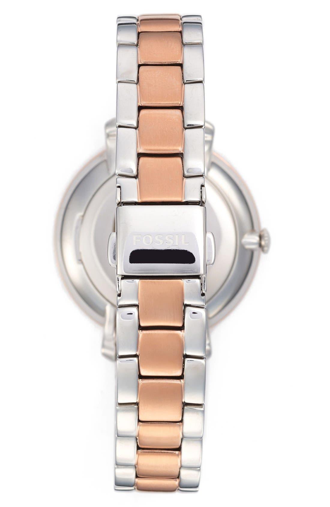Alternate Image 2  - Fossil 'Jacqueline' Bracelet Watch, 36mm