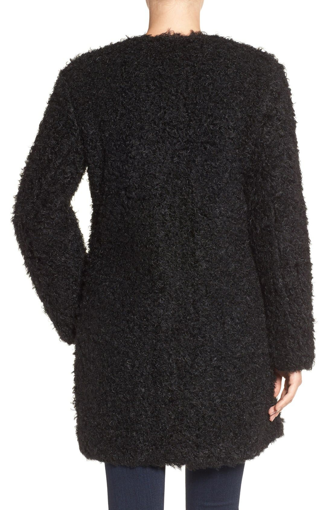 Alternate Image 2  - Via Spiga Reversible Faux Fur Coat