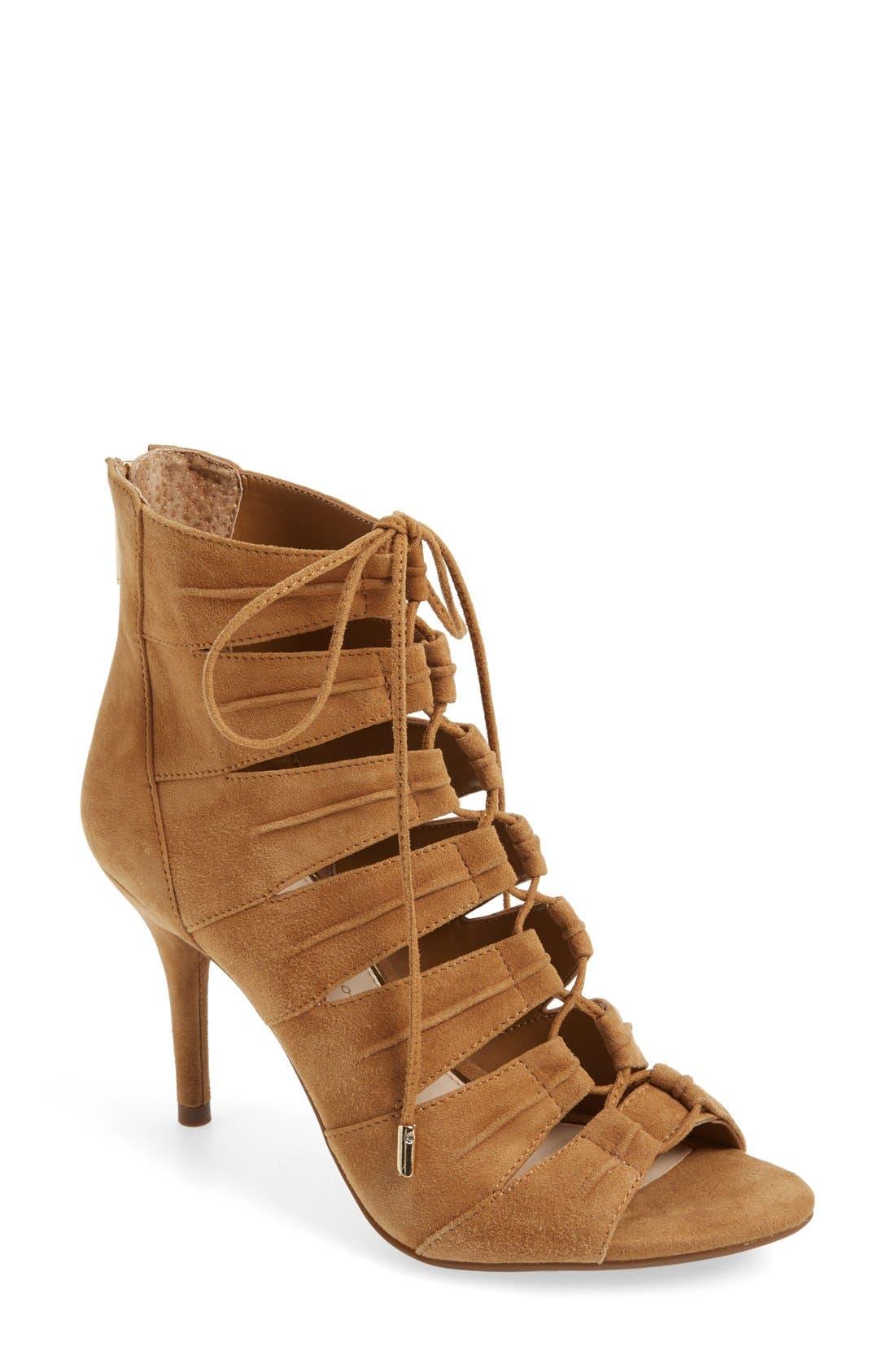 Alternate Image 1 Selected - Jessica Simpson 'Mahiri' Ghillie Open Toe Bootie (Women)