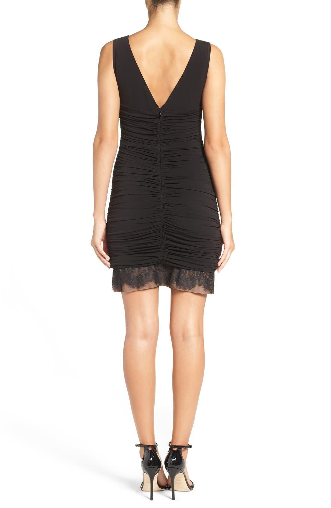 Alternate Image 2  - BCBGMAXAZRIA 'Clio' Ruched Jersey Body-Con Dress