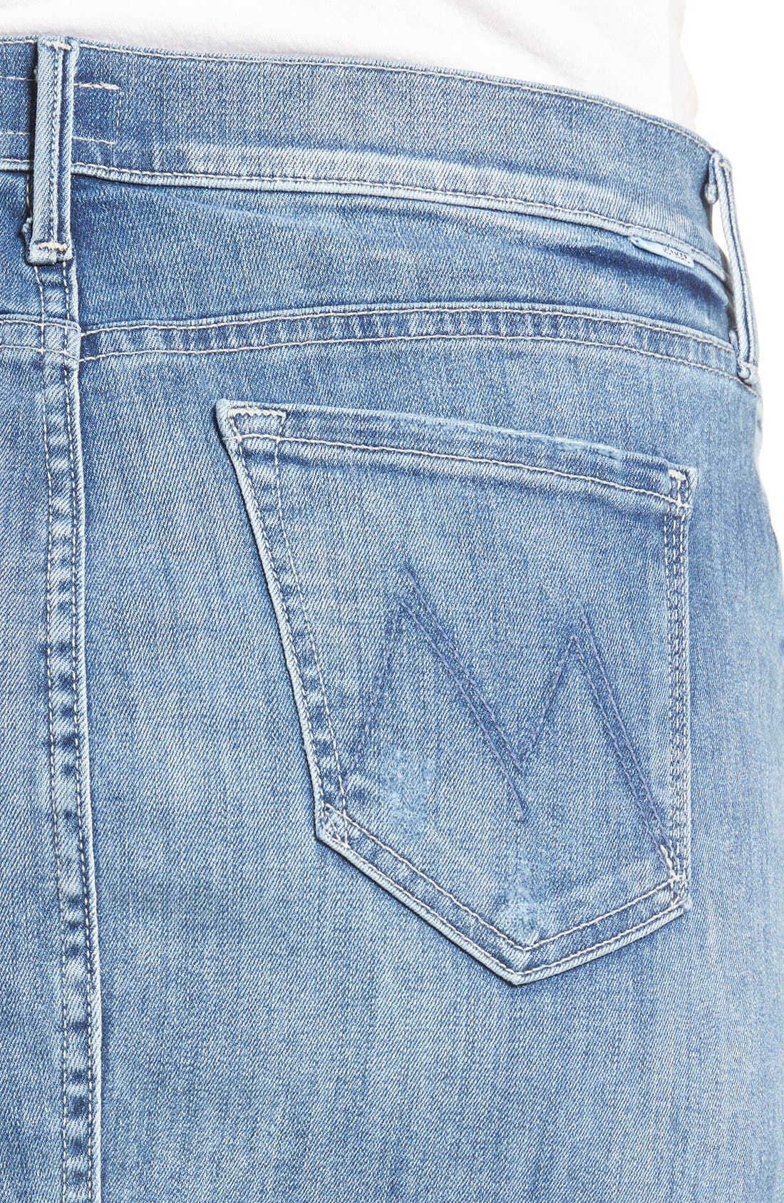 Alternate Image 4  - MOTHER 'The Peg Leg' Denim Pencil Skirt (Double Time)