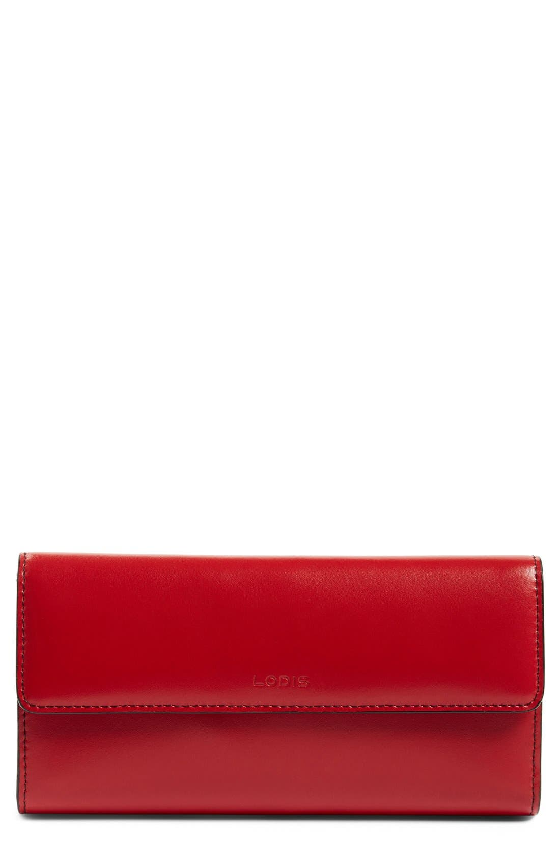 LODIS Audrey RFID Leather Checkbook Clutch Wallet