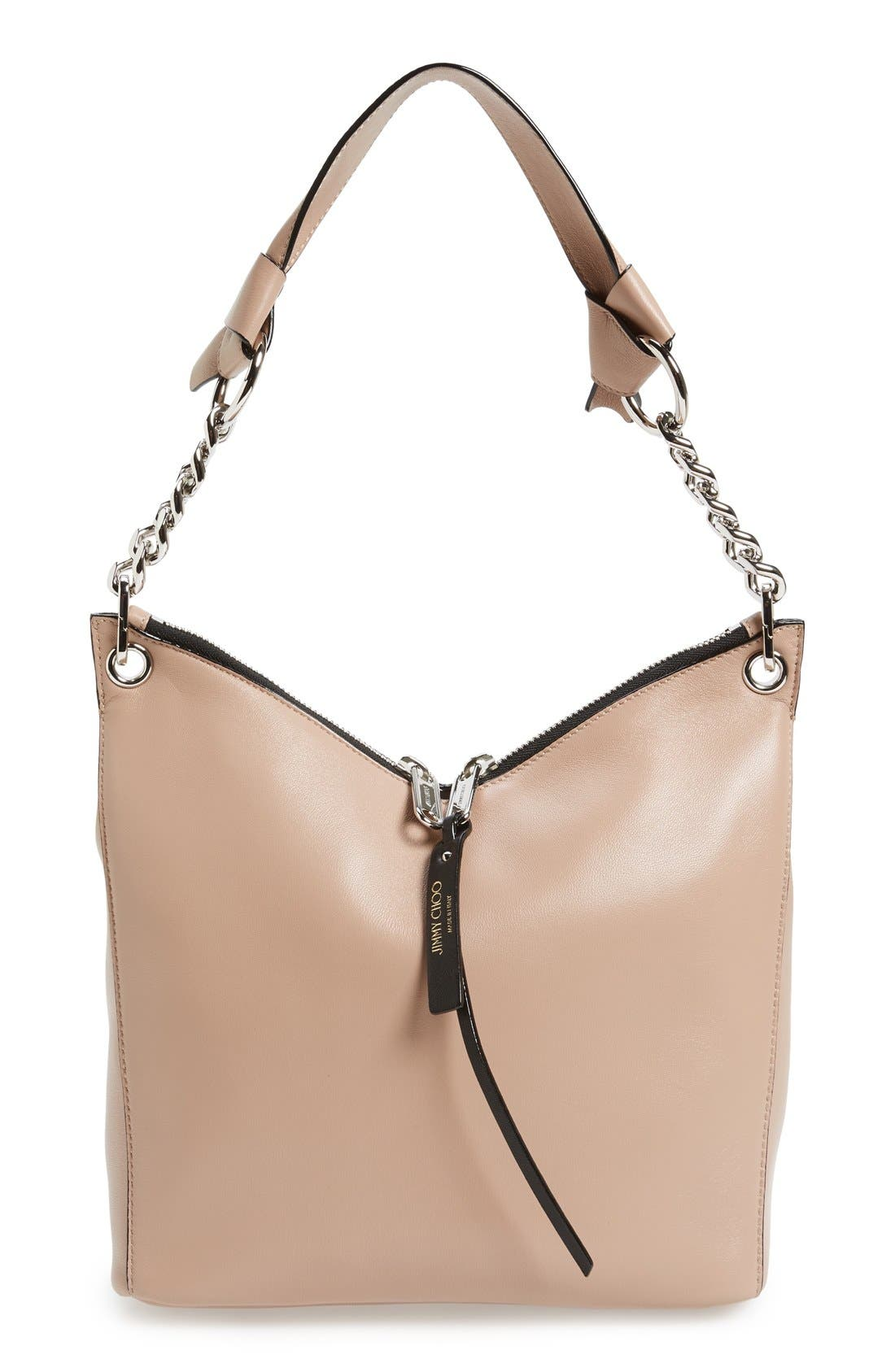 Jimmy Choo 'Small Raven' Nappa Leather Shoulder Bag