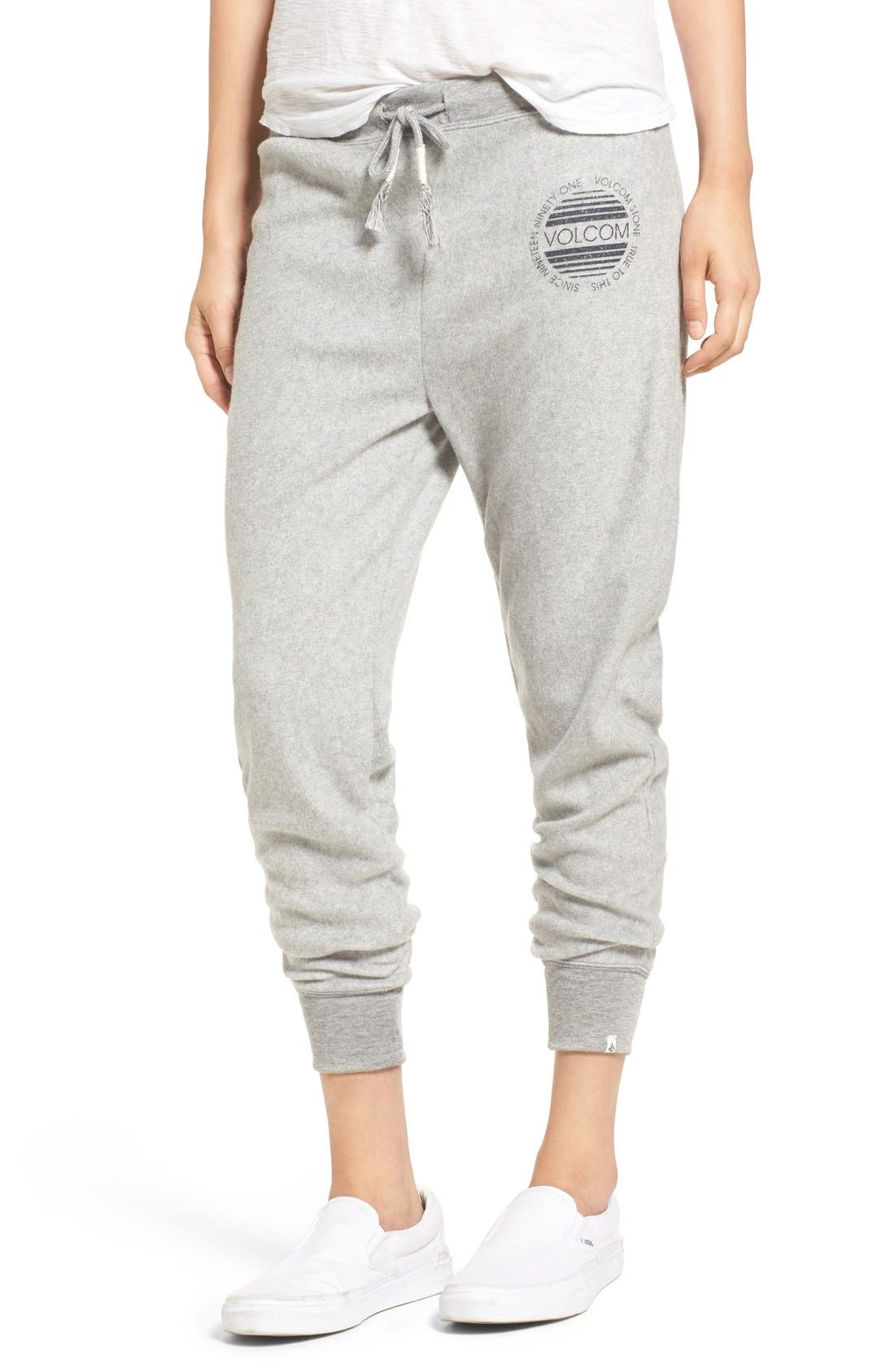 Main Image - Volcom 'Lived In' Drawstring Fleece Jogger Pants