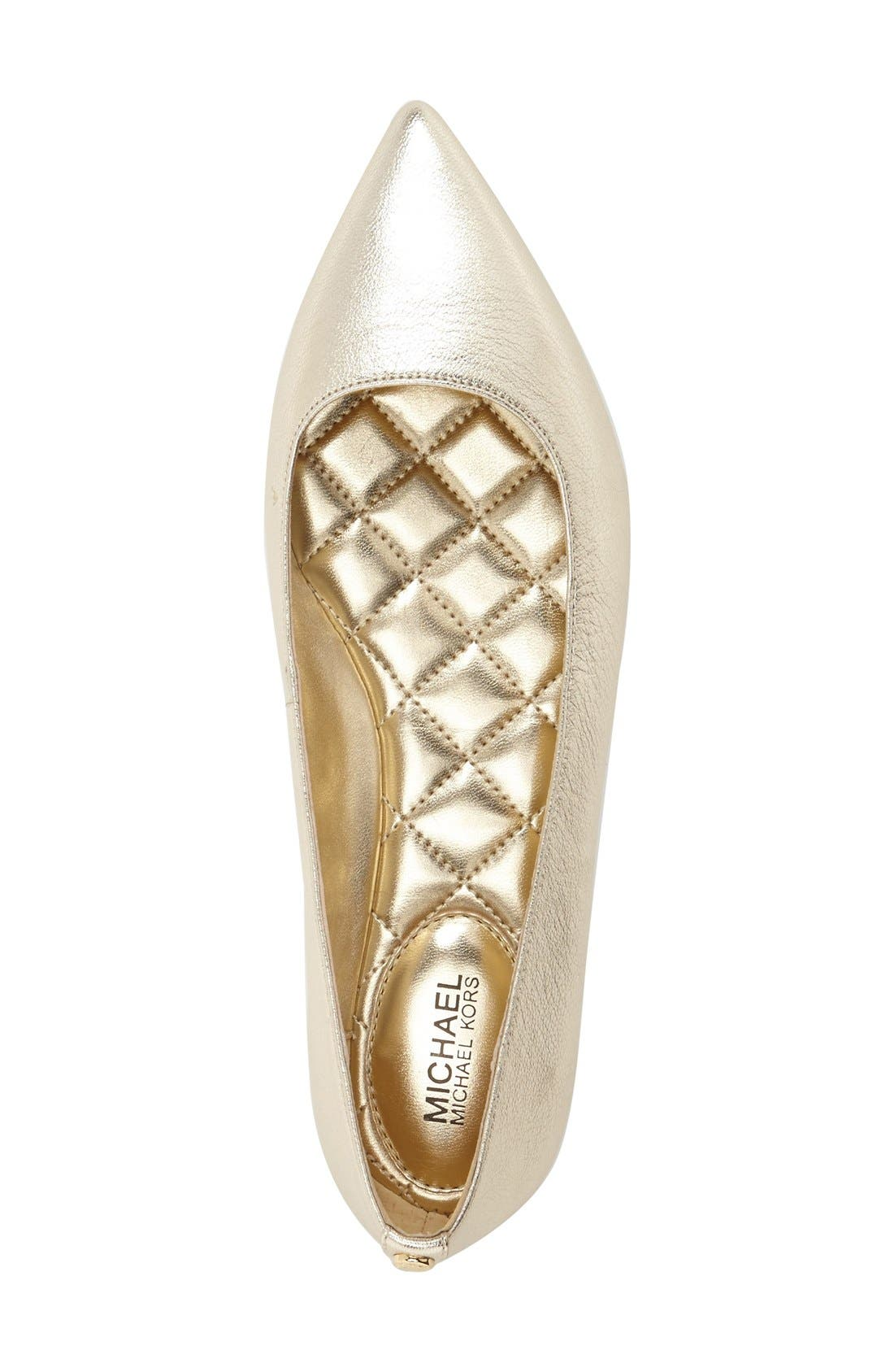 Alternate Image 3  - MICHAEL MIchael Kors 'Arianna' Pointy Toe Flat (Women)