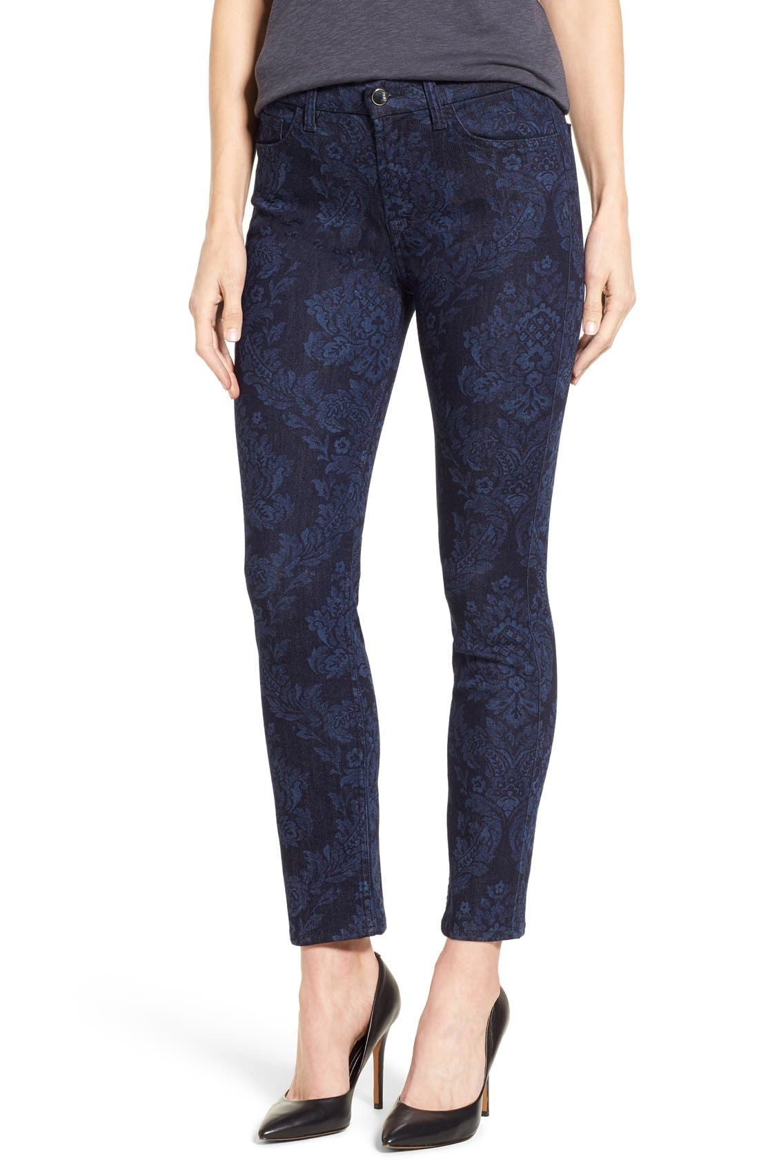Alternate Image 1 Selected - Jen7 Tapestry Jacquard Ankle Skinny Jeans