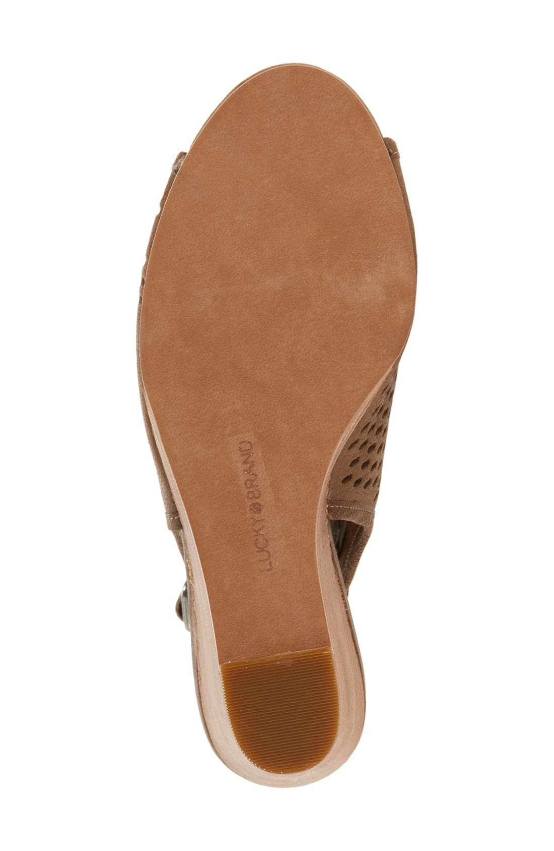 Alternate Image 4  - Lucky Brand 'Rozina' Cutout Wedge Sandal (Women)