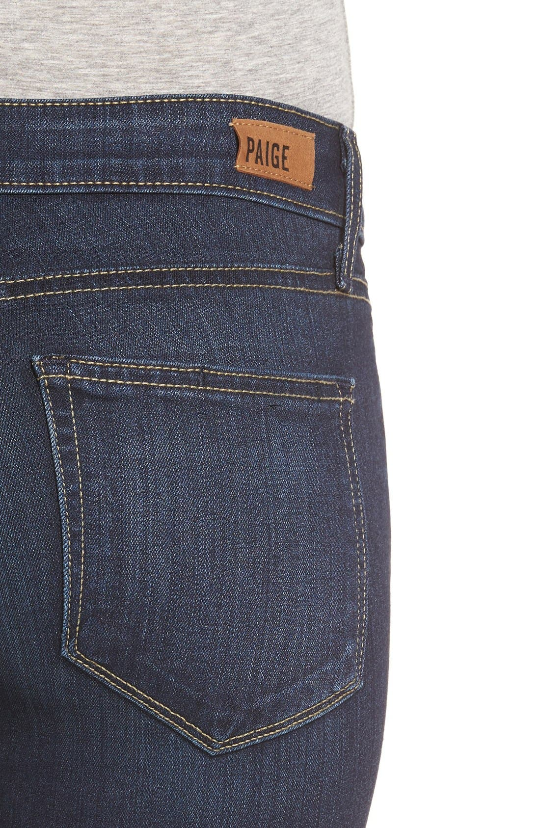 Alternate Image 5  - PAIGE 'Transcend - Verdugo' Ankle Ultra Skinny Jeans (Hartmann) (Nordstrom Exclusive)