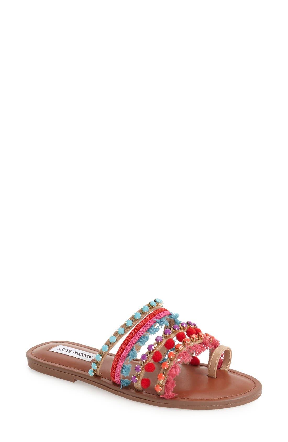 Alternate Image 1 Selected - Steve Madden Multicolor Slide Sandal (Women)
