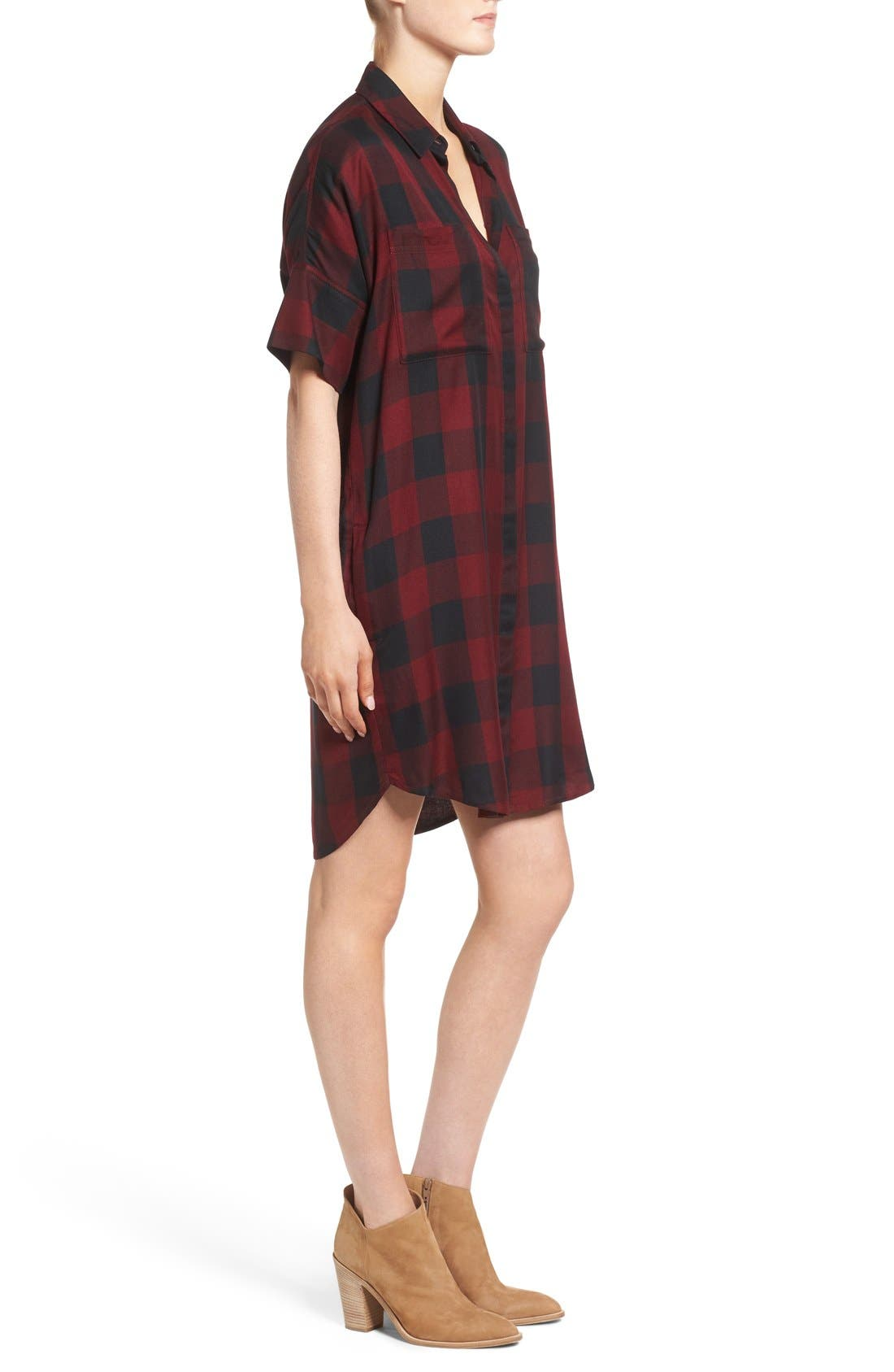 Alternate Image 3  - Madewell Courier Plaid Shirtdress