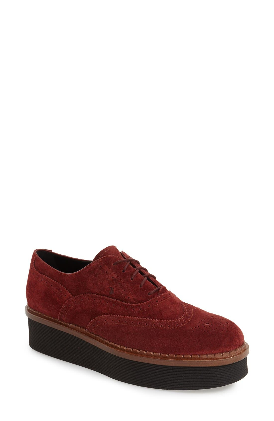 Main Image - Tod's 'Lightsole' Creeper Wingtip Oxford (Women) (Nordstrom Exclusive)
