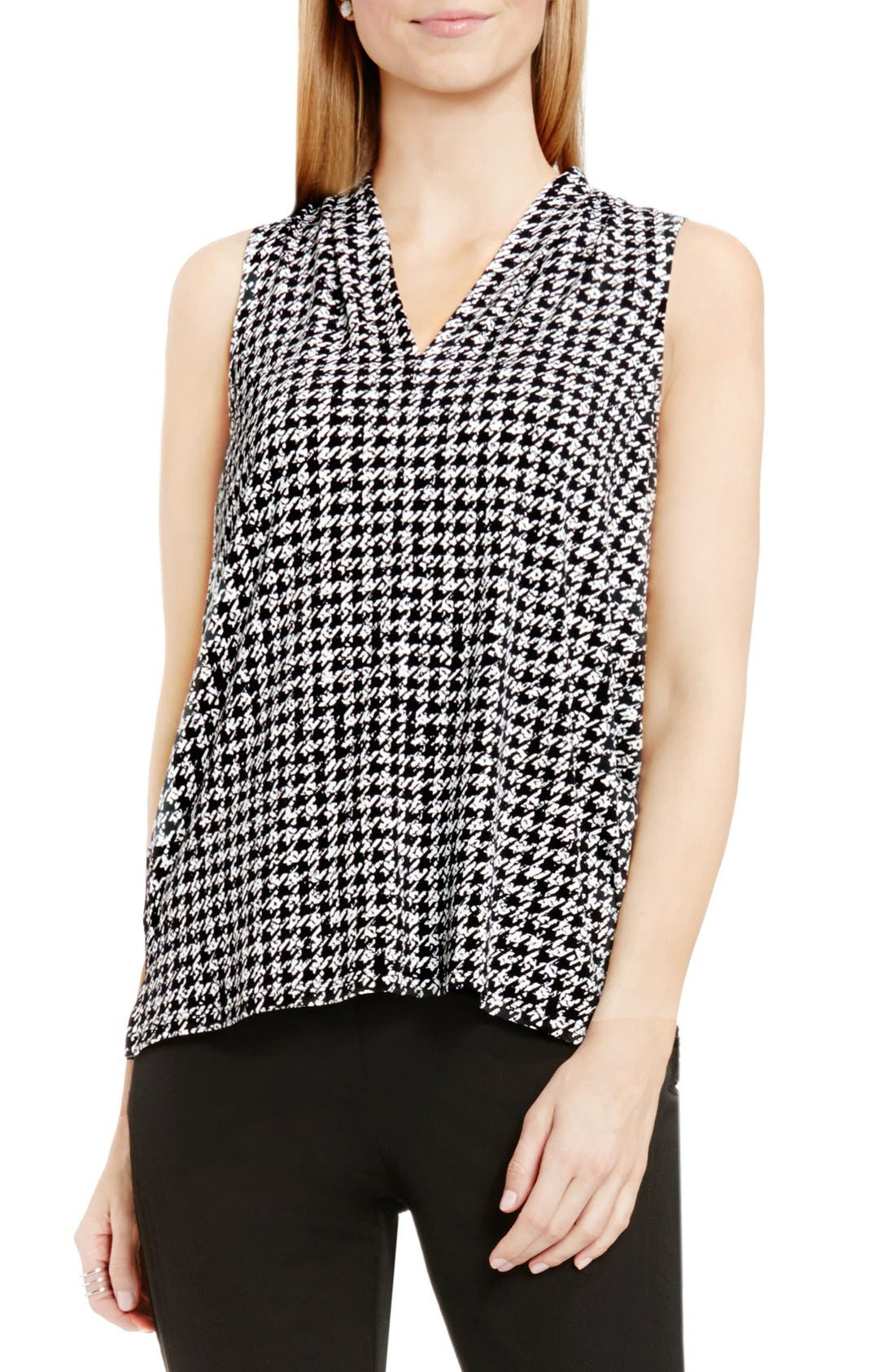 Main Image - Vince Camuto Sleeveless V-Neck Top (Regular & Petite)