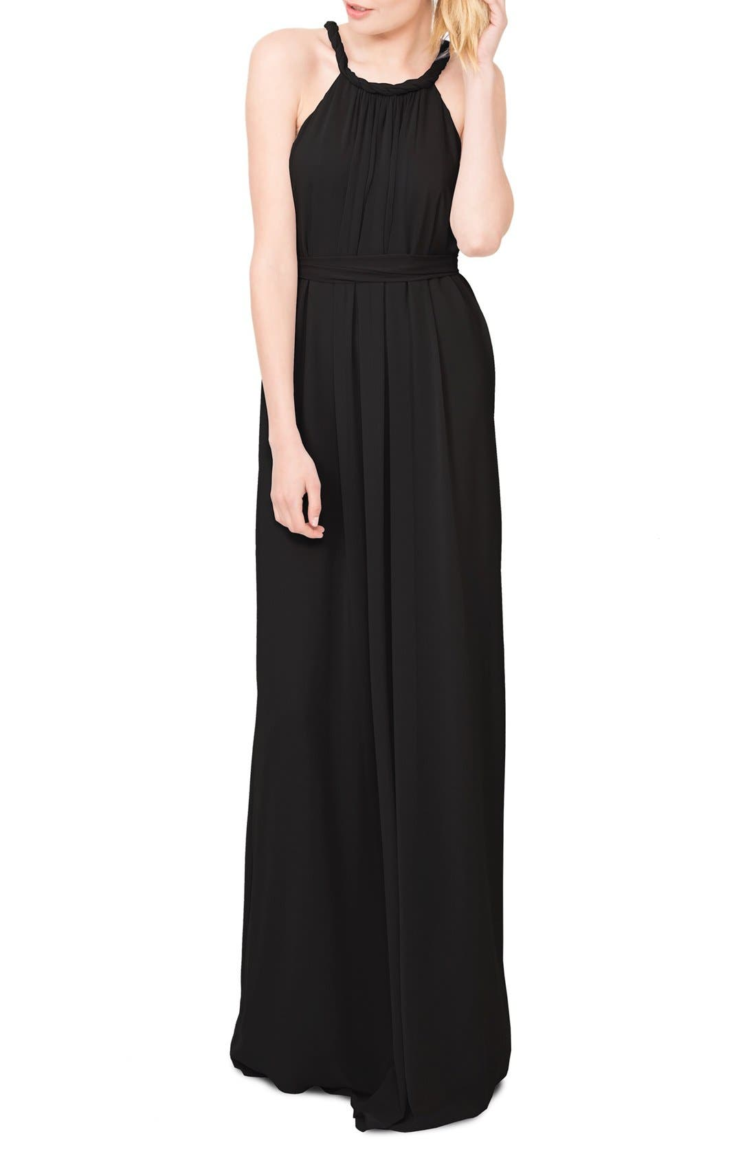 Ceremony by Joanna August 'Catherine' Braided Halter A-Line Gown