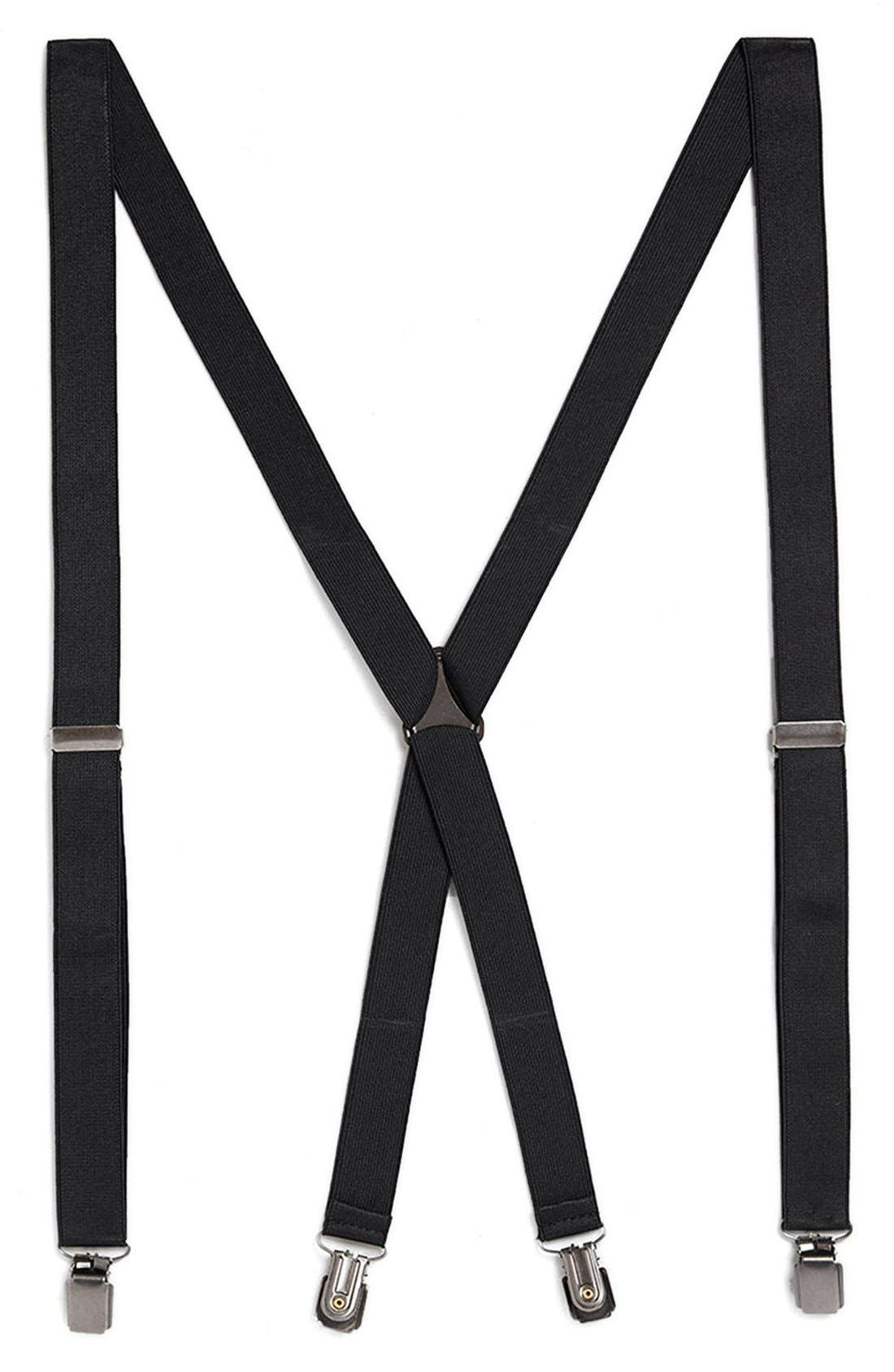 Alternate Image 4  - Topman Black Skinny Suspenders