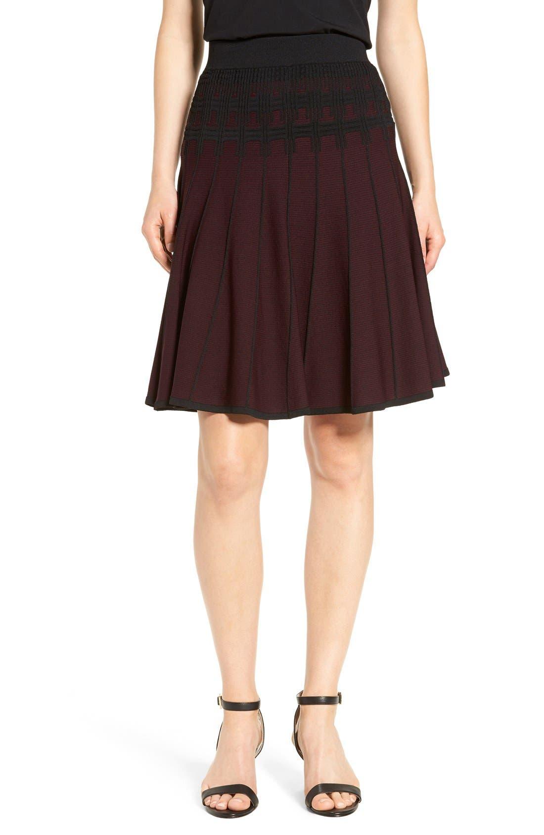 Main Image - Ivanka Trump Jacquard Knit Flare Skirt