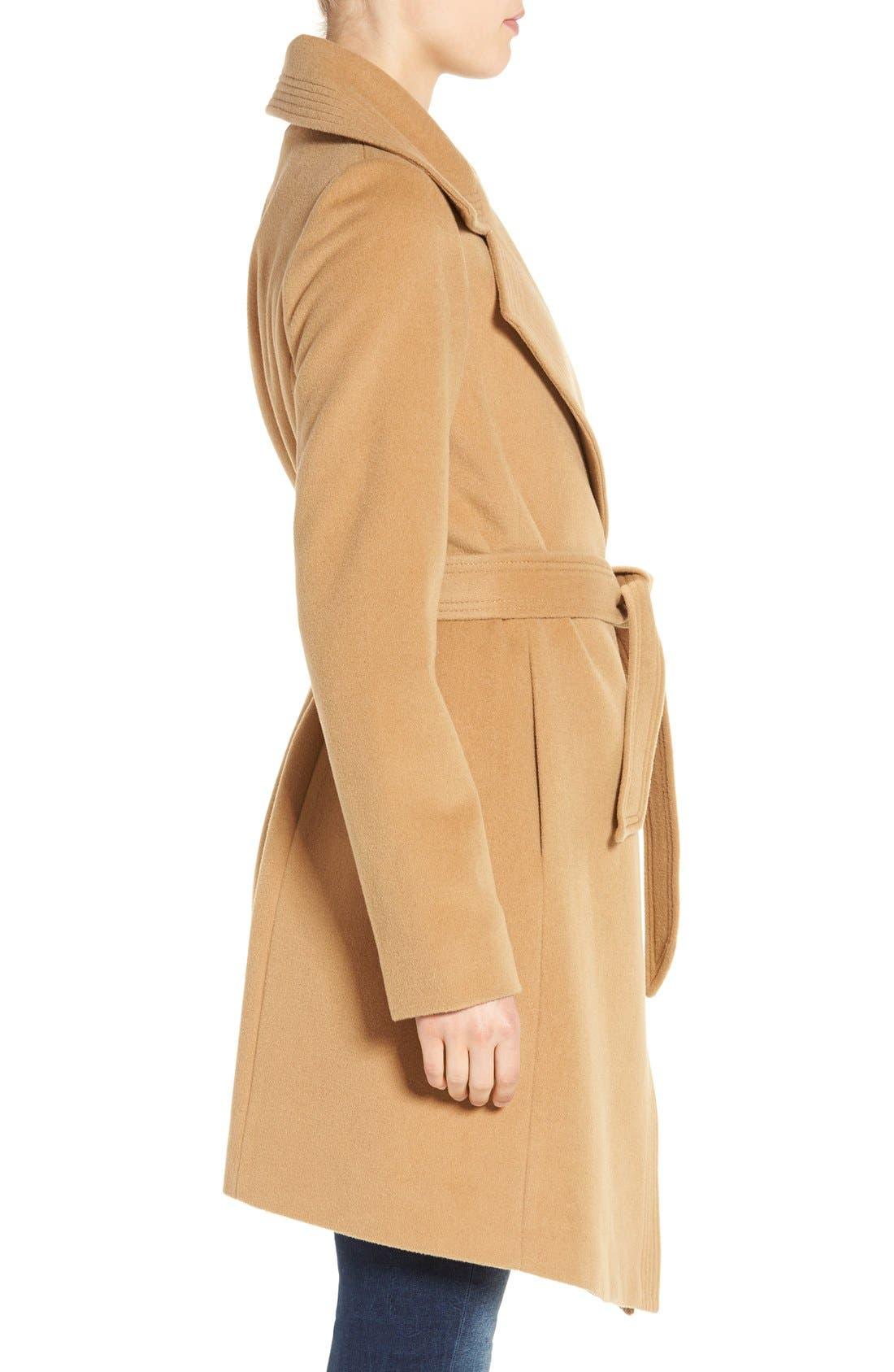 Alternate Image 3  - Diane von Furstenberg Wool Blend Wrap Coat