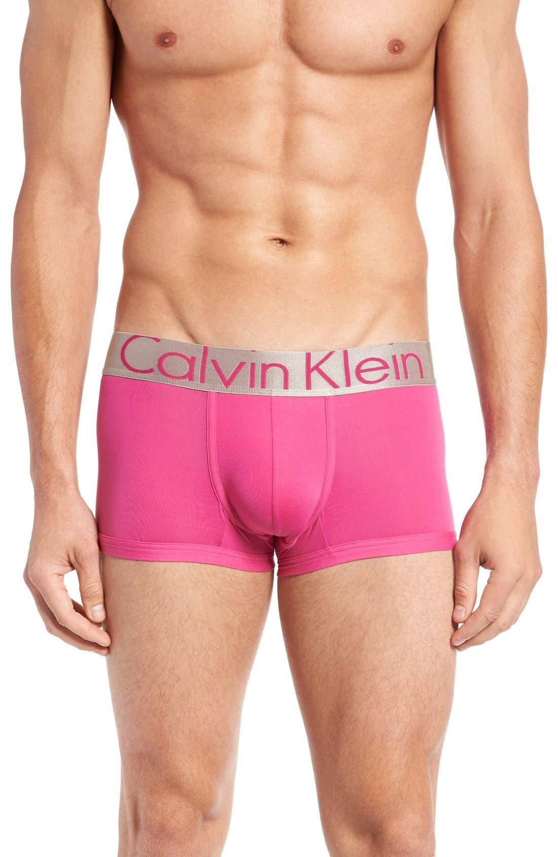 Alternate Image 1 Selected - Calvin Klein Steel U2716 Microfiber Low Rise Trunks