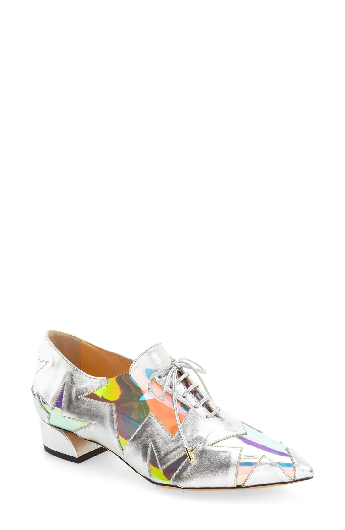 Alternate Image 1 Selected - Charlotte Olympia 'Starman' Pointy-Toe Oxford (Women)