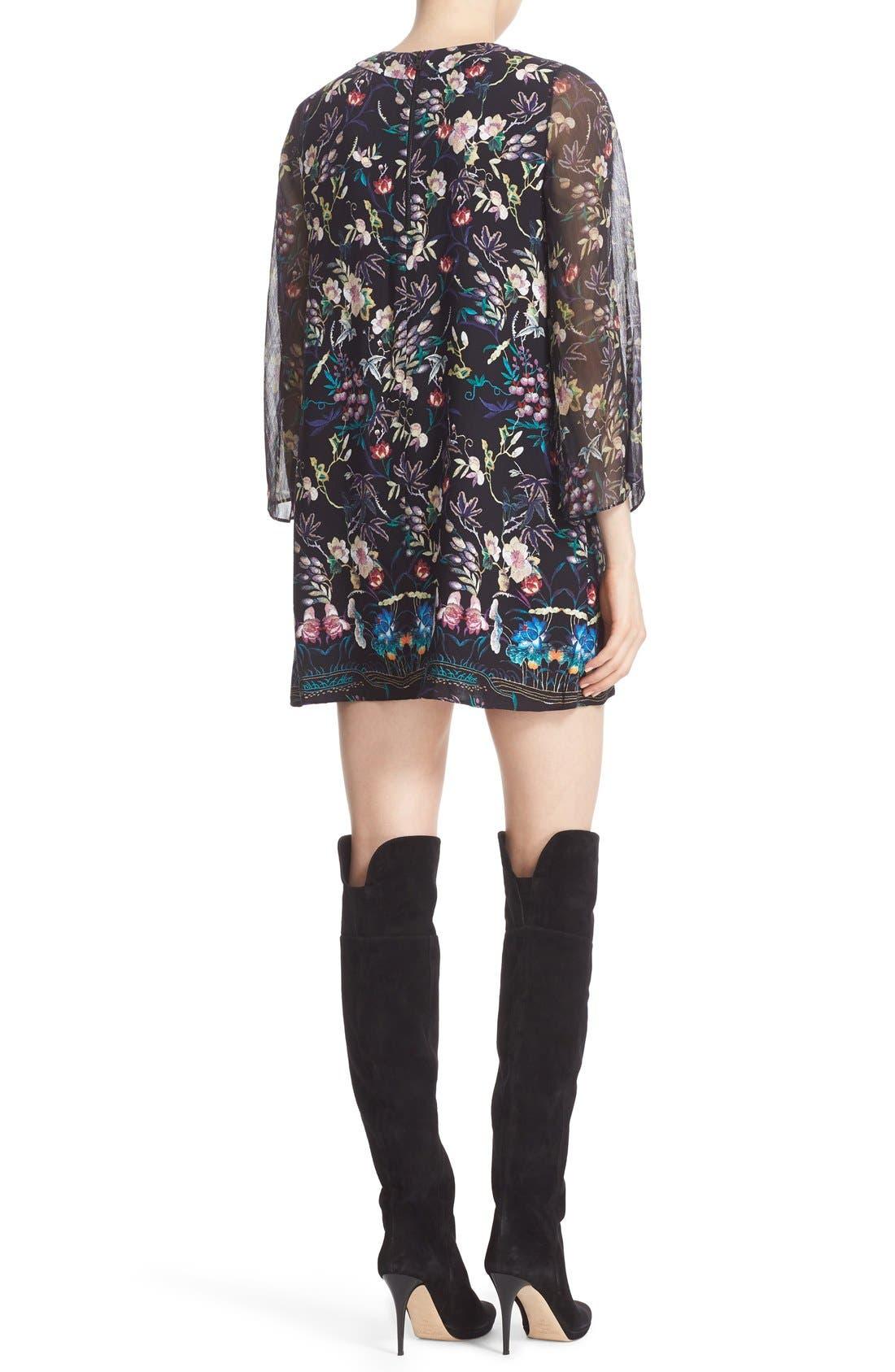 Alternate Image 2  - Alice + Olivia 'Zia' Print Mini Caftan Dress