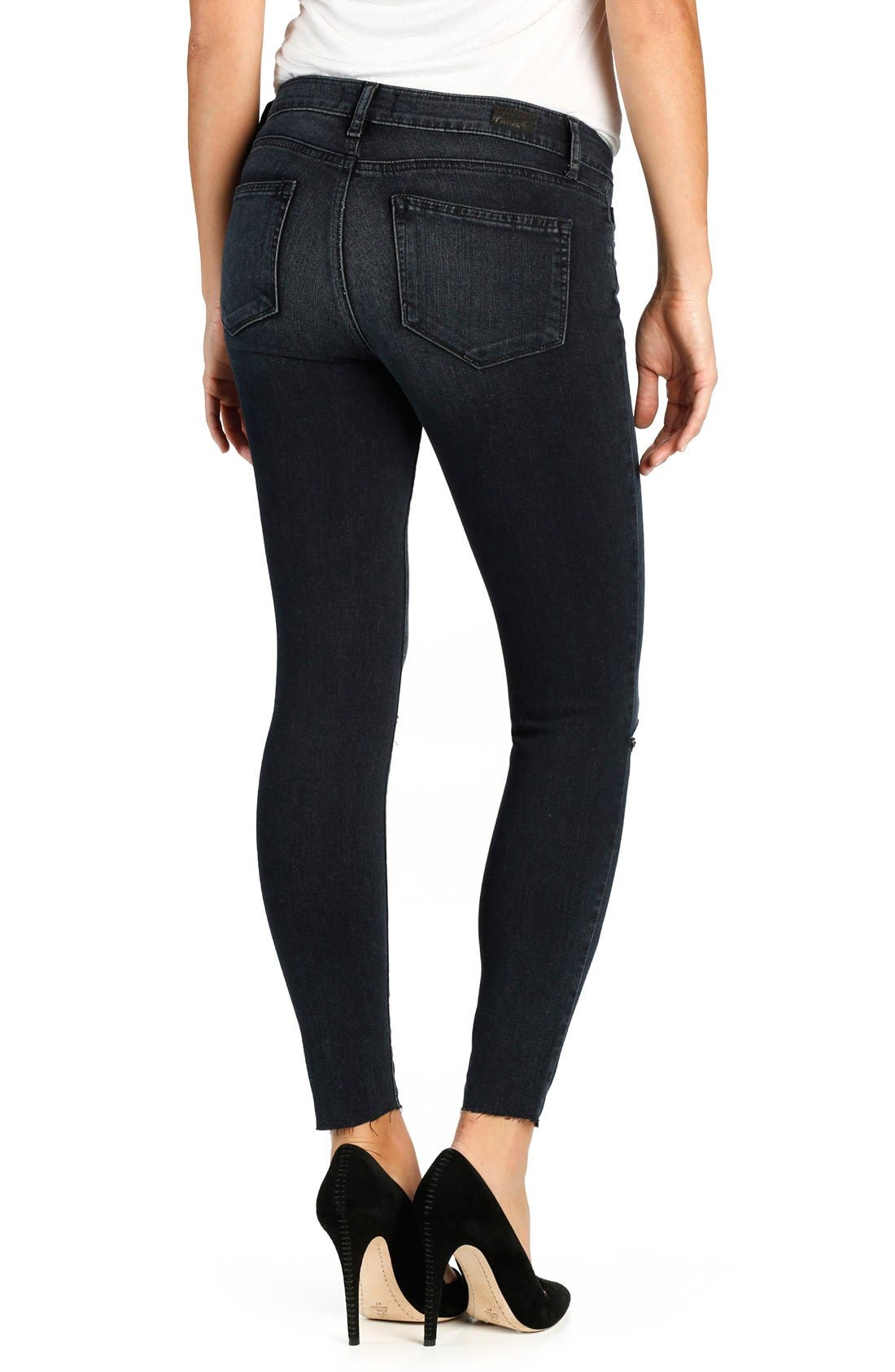 Alternate Image 2  - PAIGE Transcend Verdugo Ripped Ankle Ultra Skinny Jeans (Kaleea Destructed)
