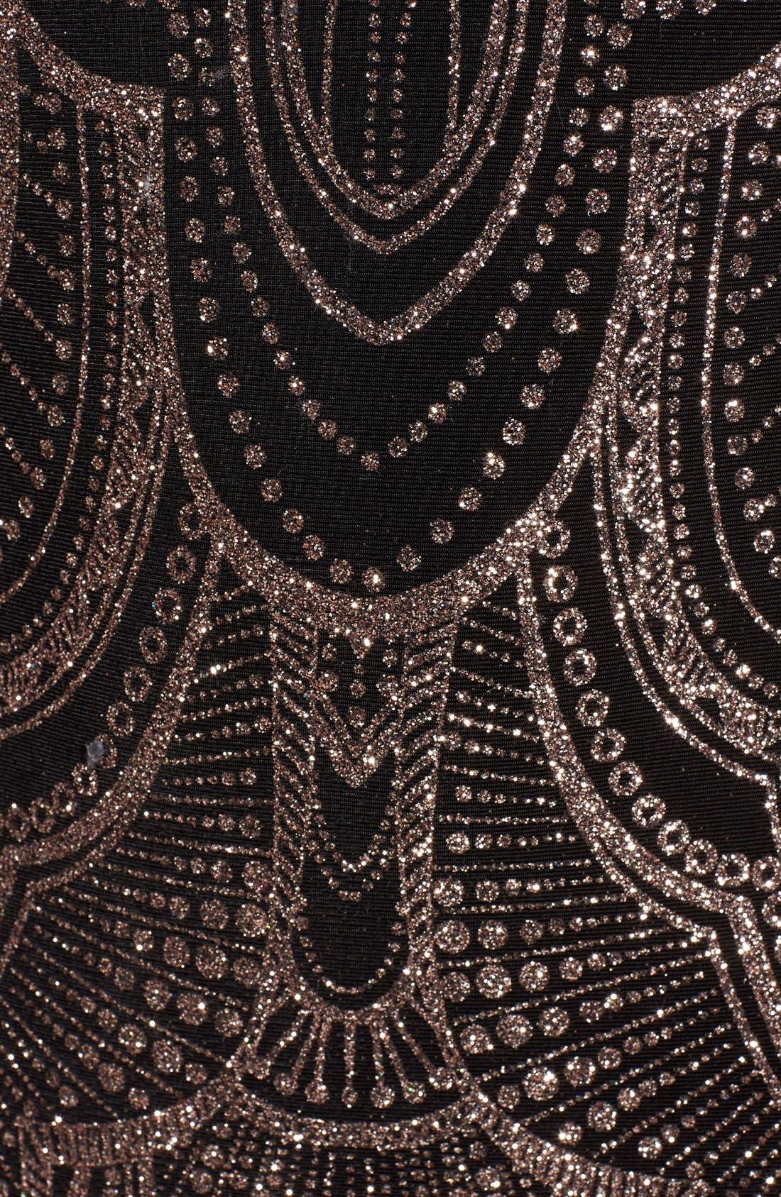 Alternate Image 5  - Jump Apparel Glitter Print Strapless Gown