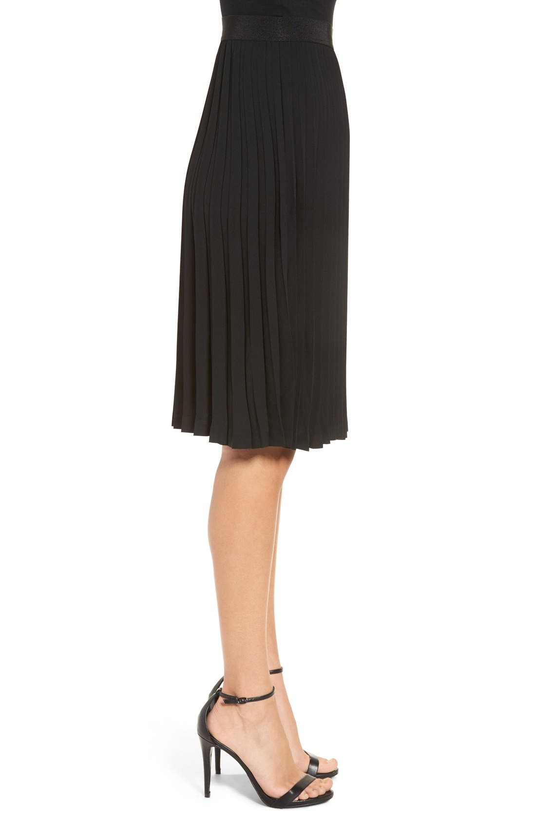 Alternate Image 3  - Leith Colorblock Pleated Midi Skirt
