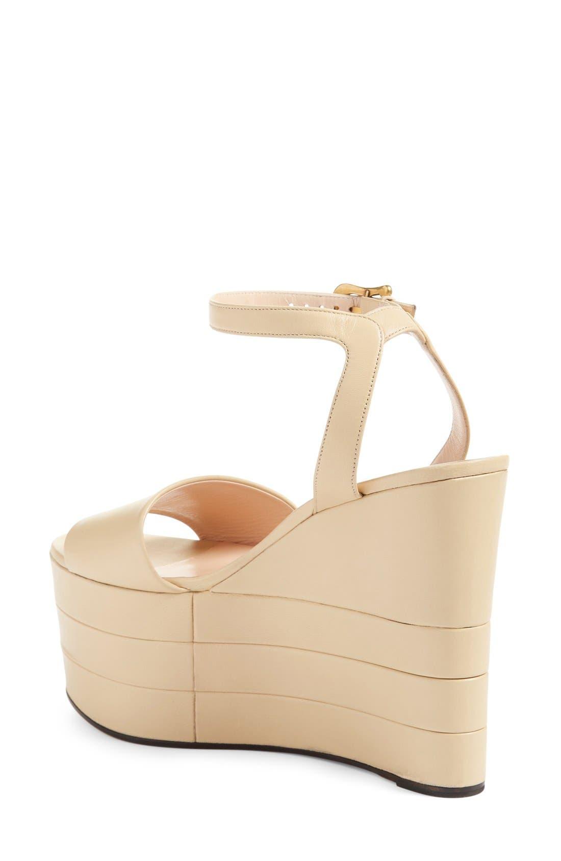 Alternate Image 2  - Gucci 'Sally' Platform Sandal (Women)