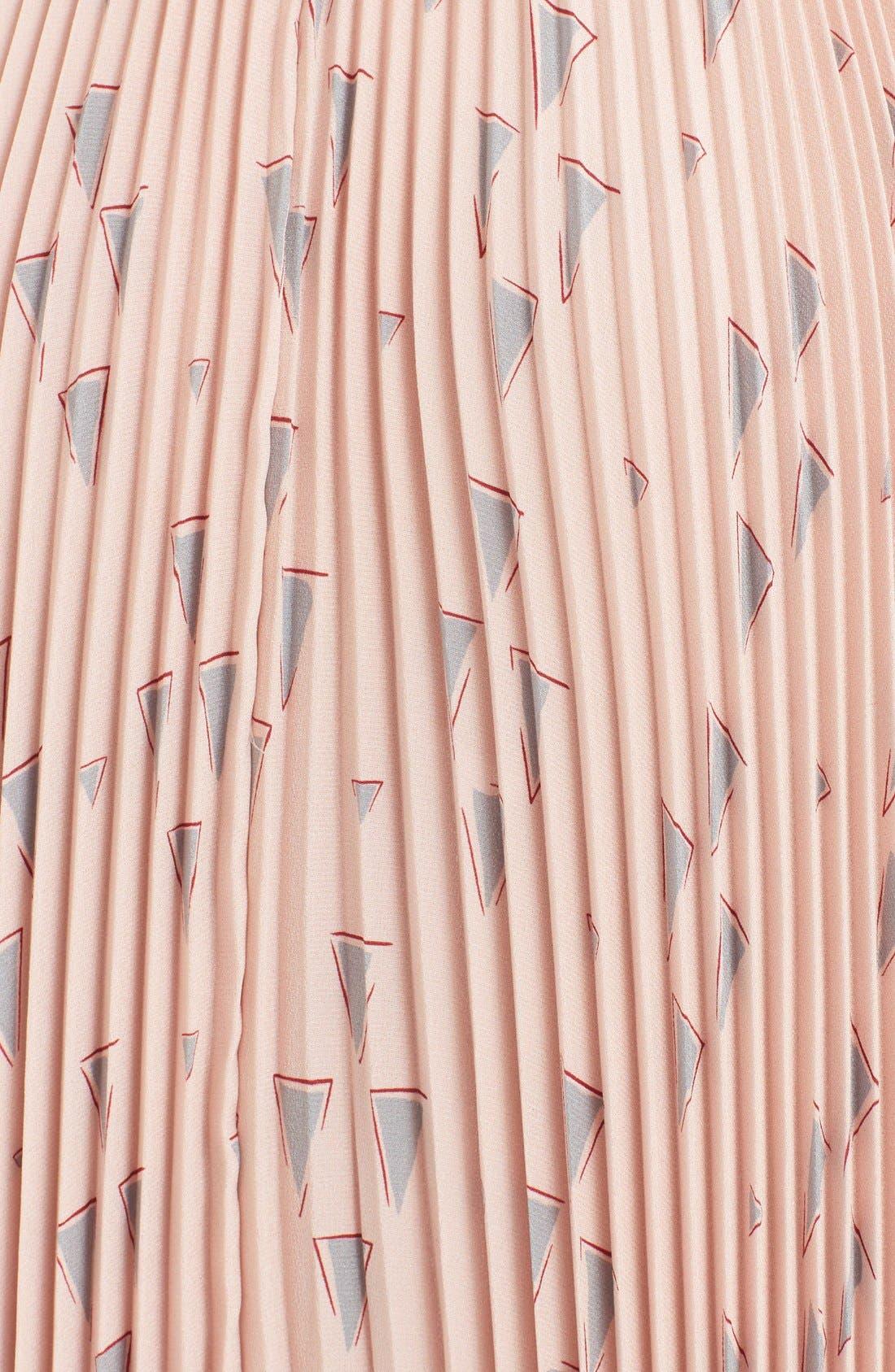 Alternate Image 3  - Valentino 'Cascade Triangle' Print Plissé Maxi Skirt