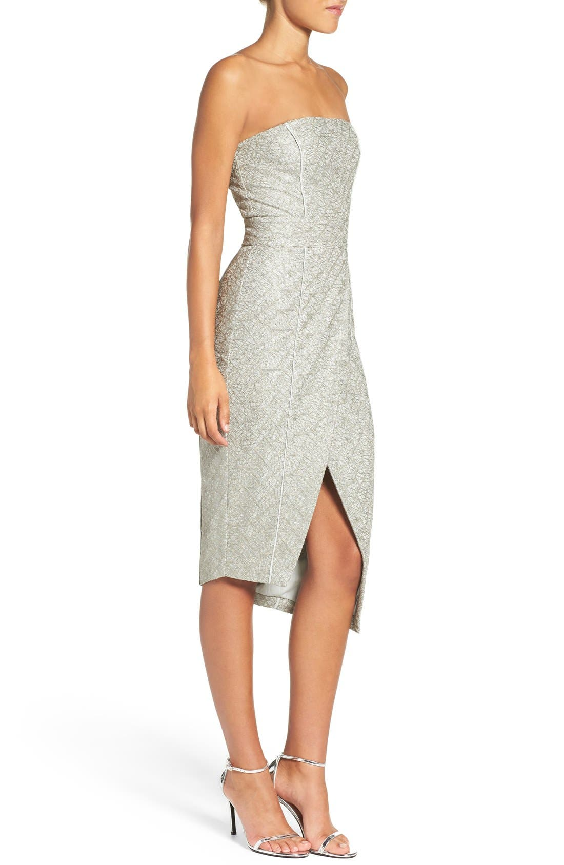 Alternate Image 4  - Misha Collection 'Olivia' Convertible Embroidered Asymmetrical Dress
