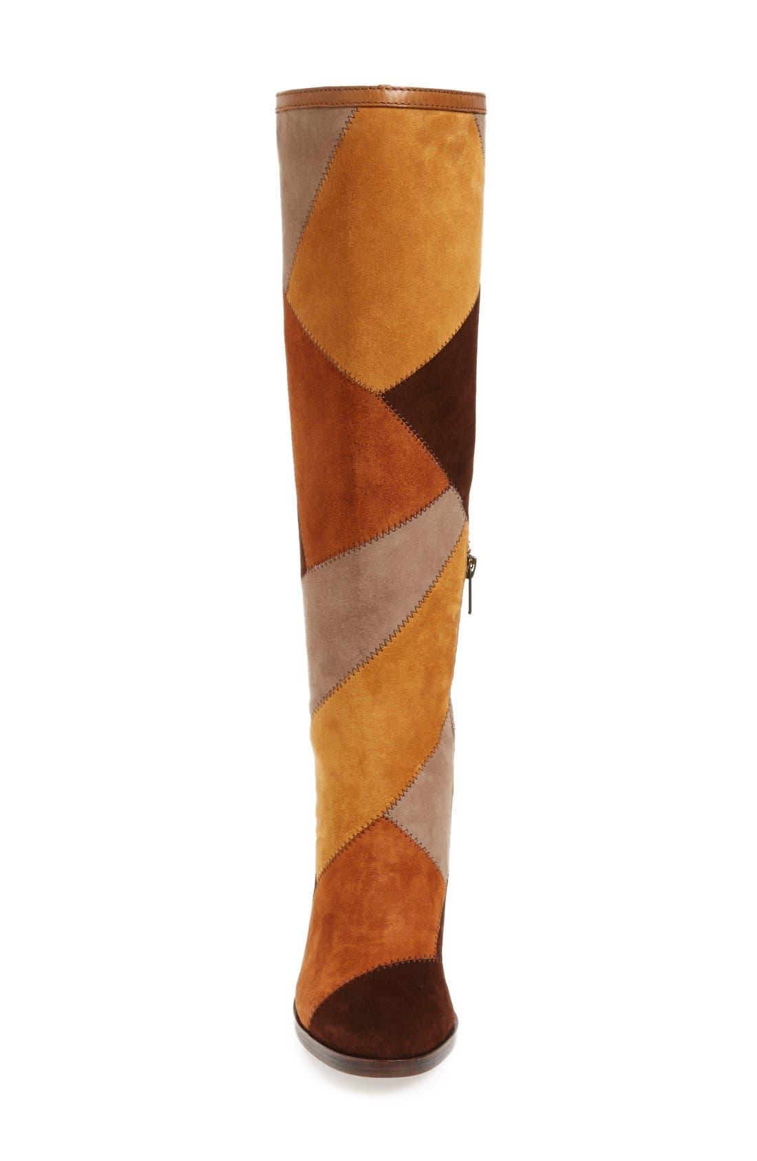 Alternate Image 3  - Frye 'Claude' Knee High Patchwork Boot (Women)