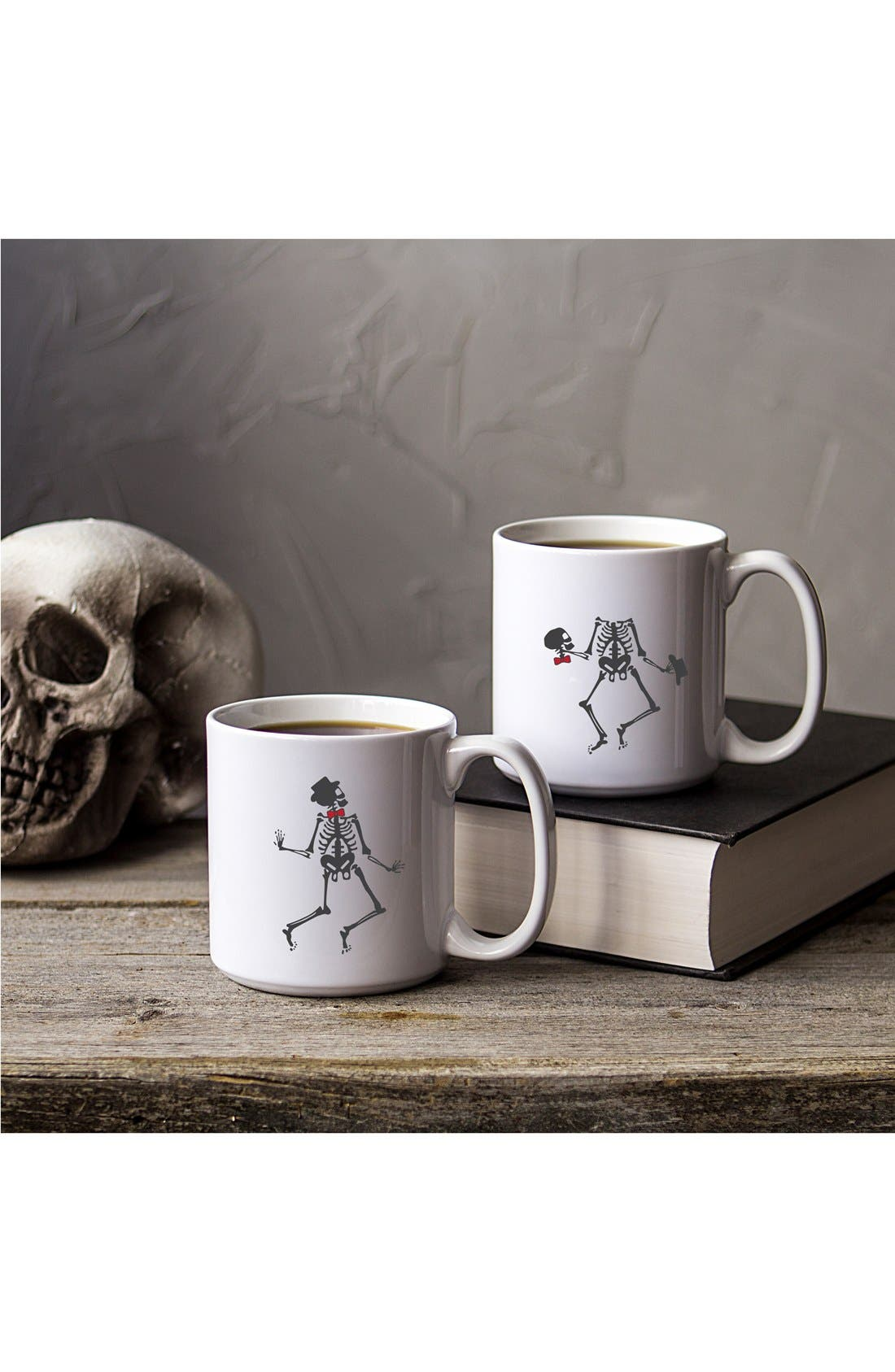 Cathy's Concepts 'Skeletons' Ceramic Coffee Mugs (Set of 2)