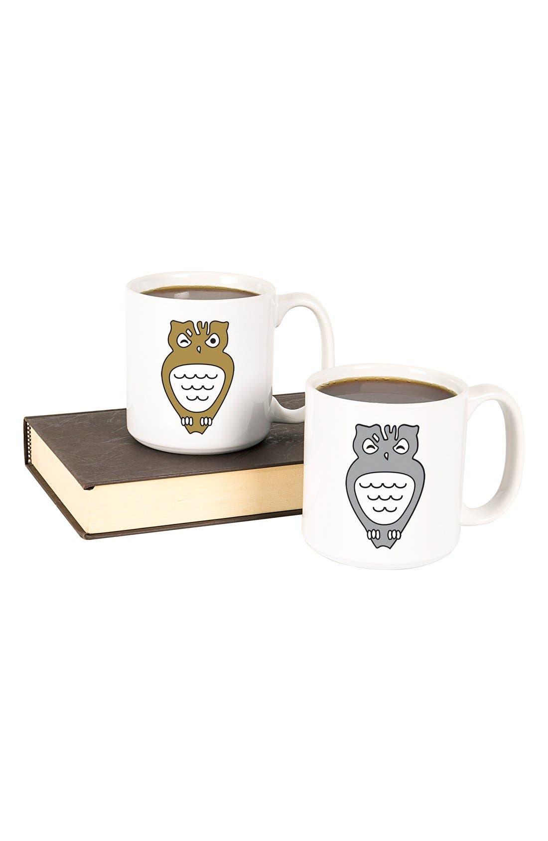 Main Image - Cathy's Concepts 'Owl' Ceramic Coffee Mugs (Set of 2)
