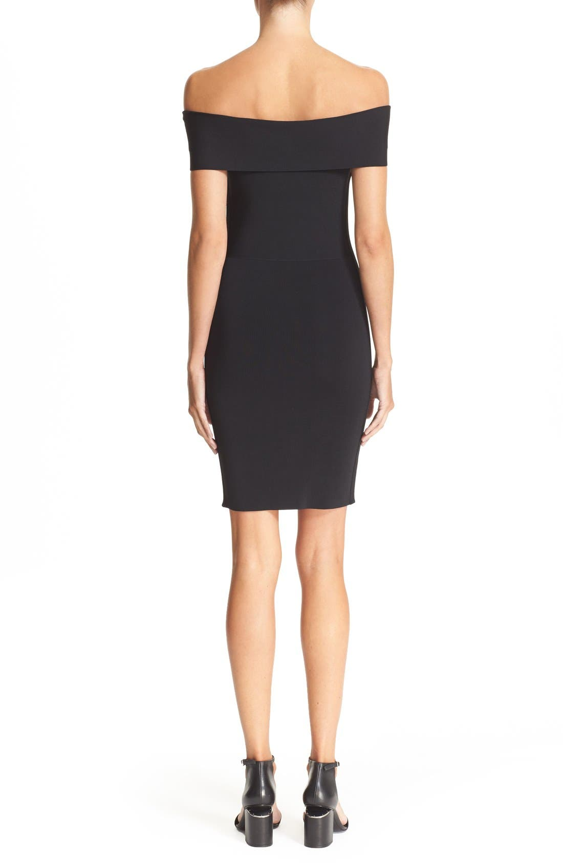 Alternate Image 2  - T by Alexander Wang Off the Shoulder Dress