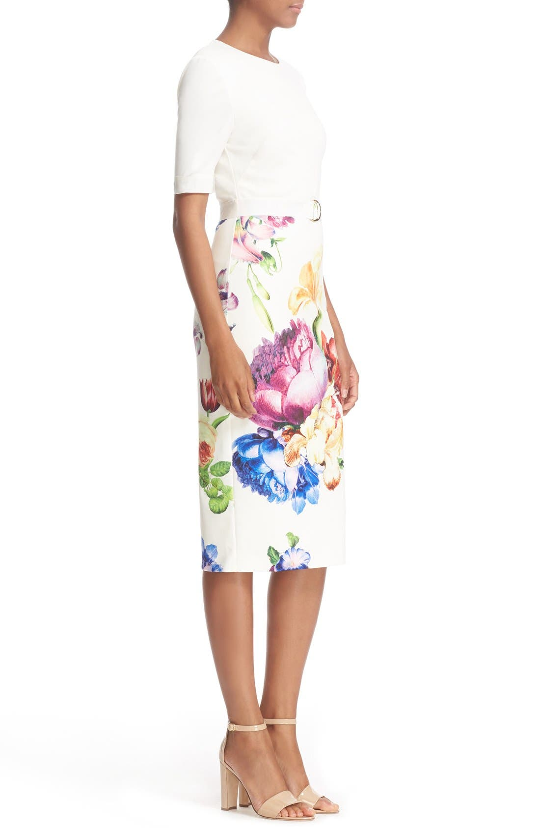 Alternate Image 3  - Ted Baker London 'Tapestry Floral' Belted Print Midi Sheath Dress